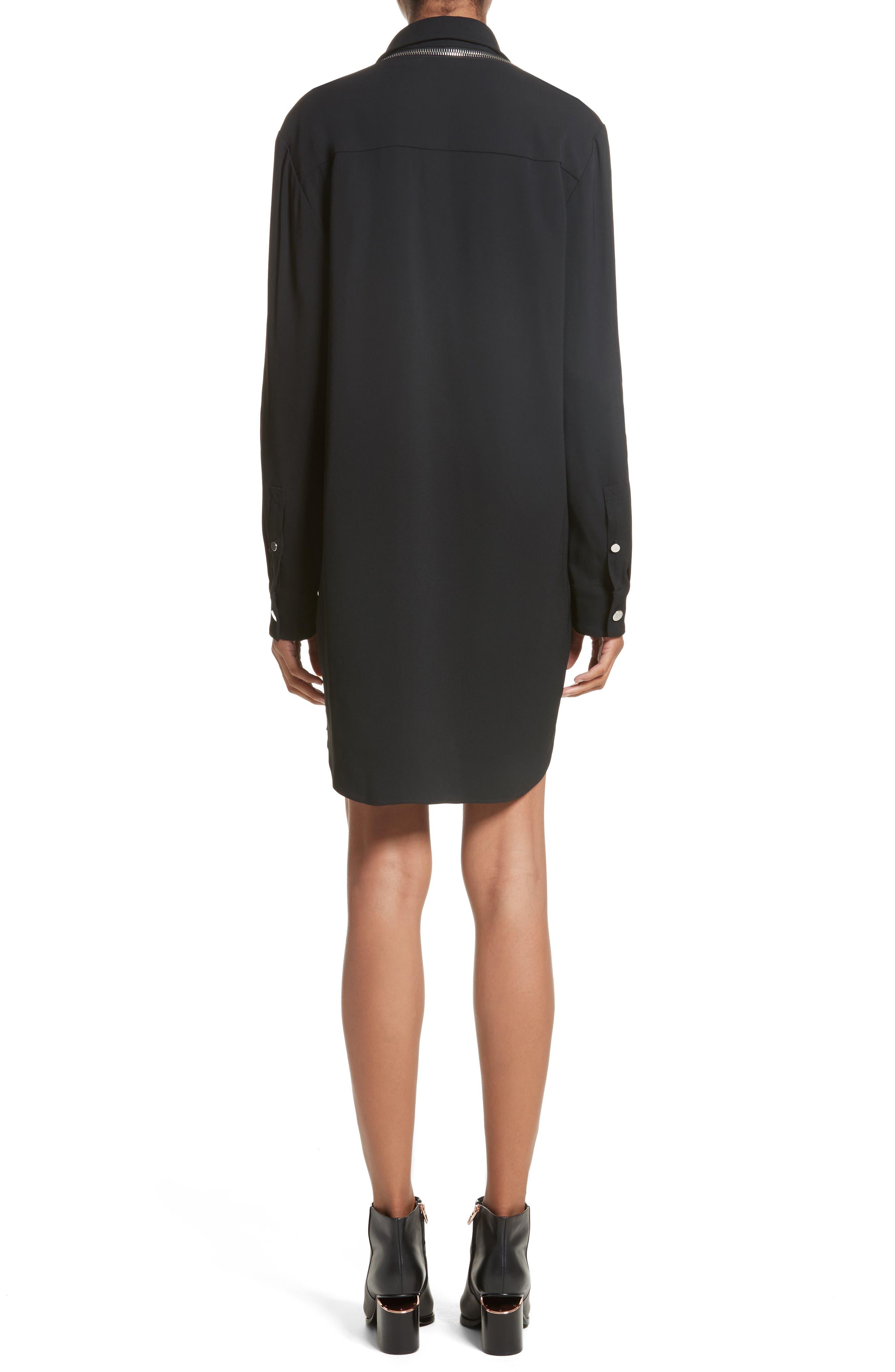 Zipper Shoulder Detail Dress,                             Alternate thumbnail 2, color,                             001