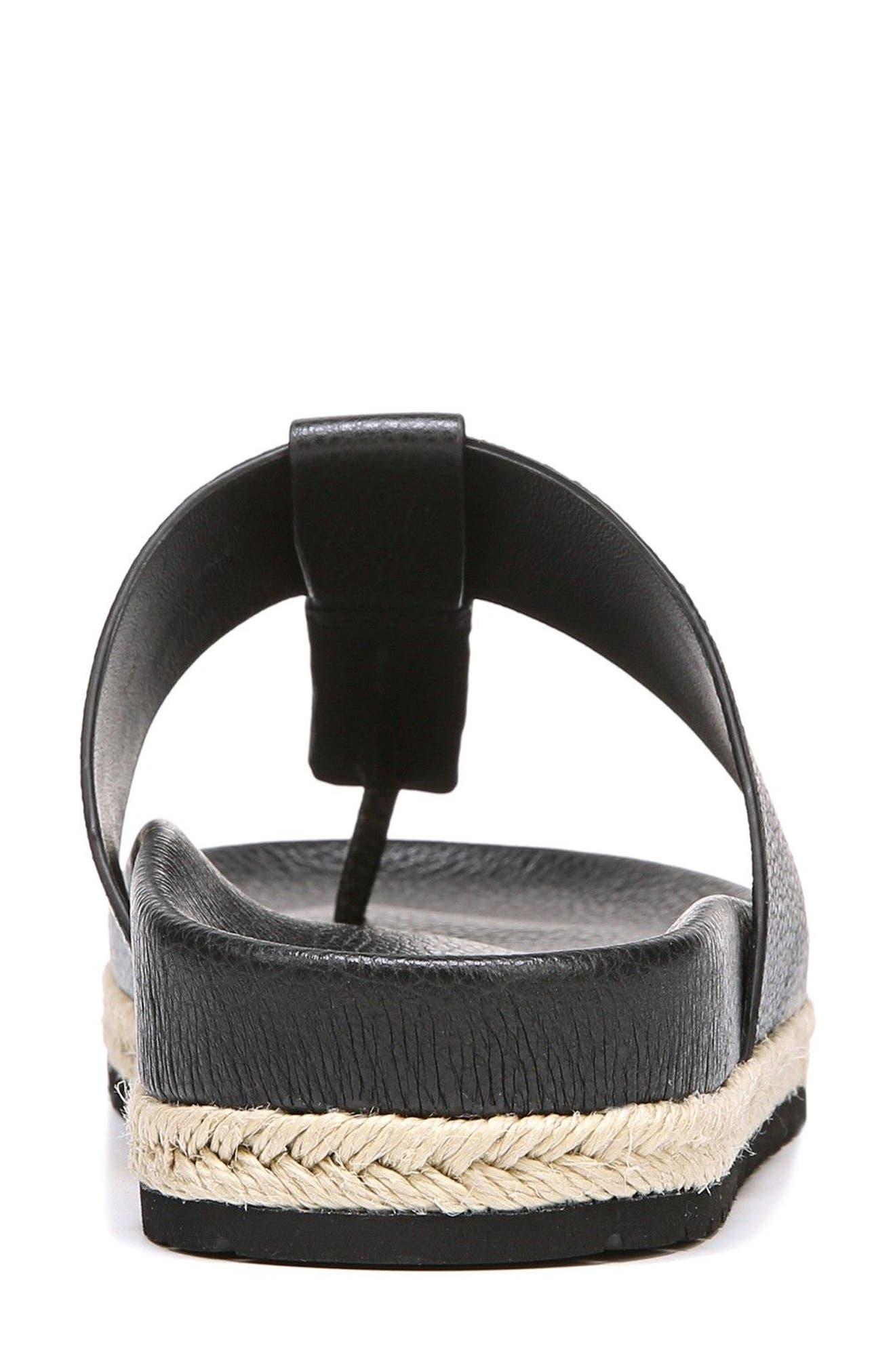 Avani T-Strap Flat Sandal,                             Alternate thumbnail 7, color,                             001