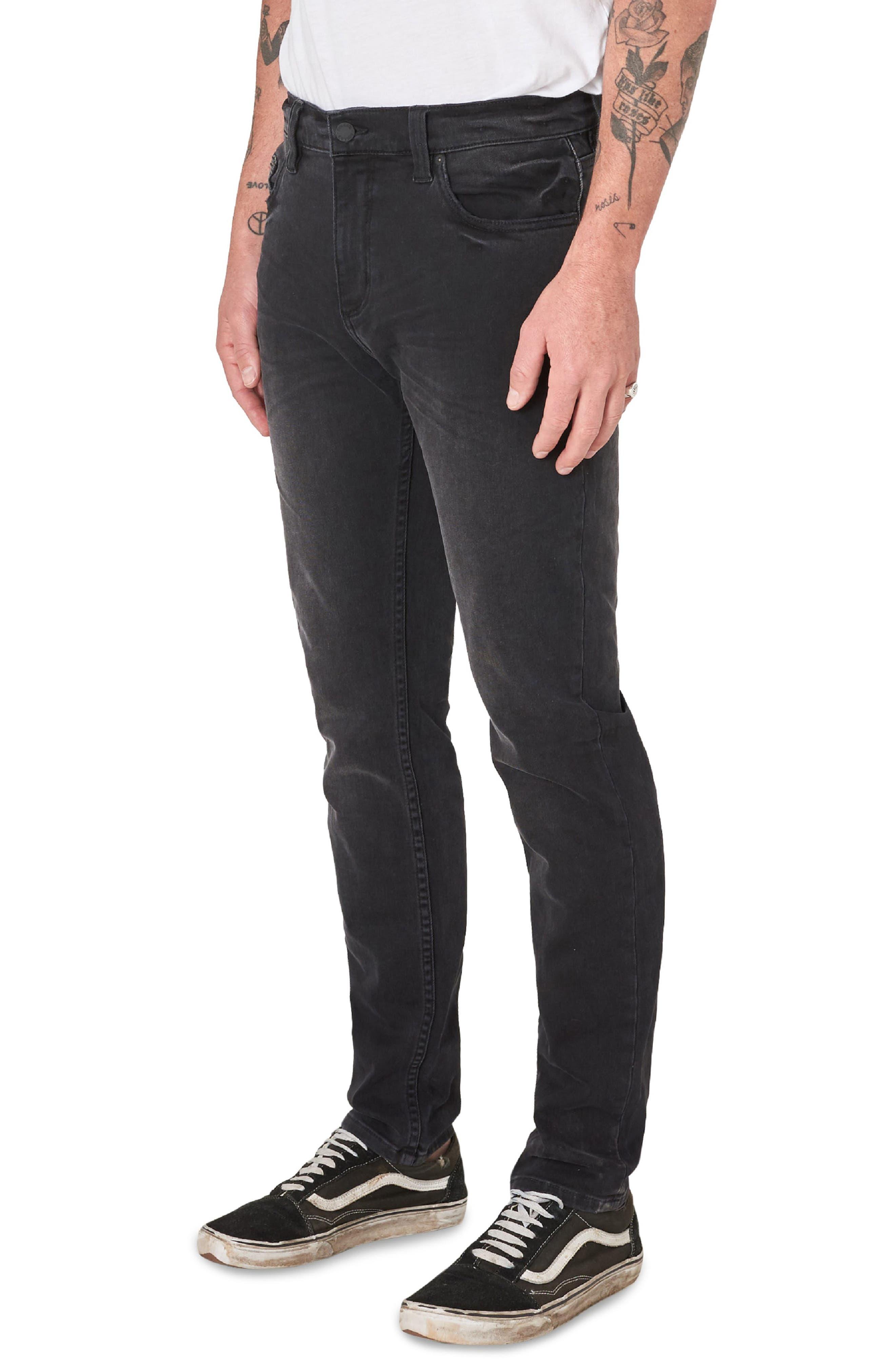 Stinger Skinny Fit Jeans,                             Alternate thumbnail 3, color,                             BLACK CAT