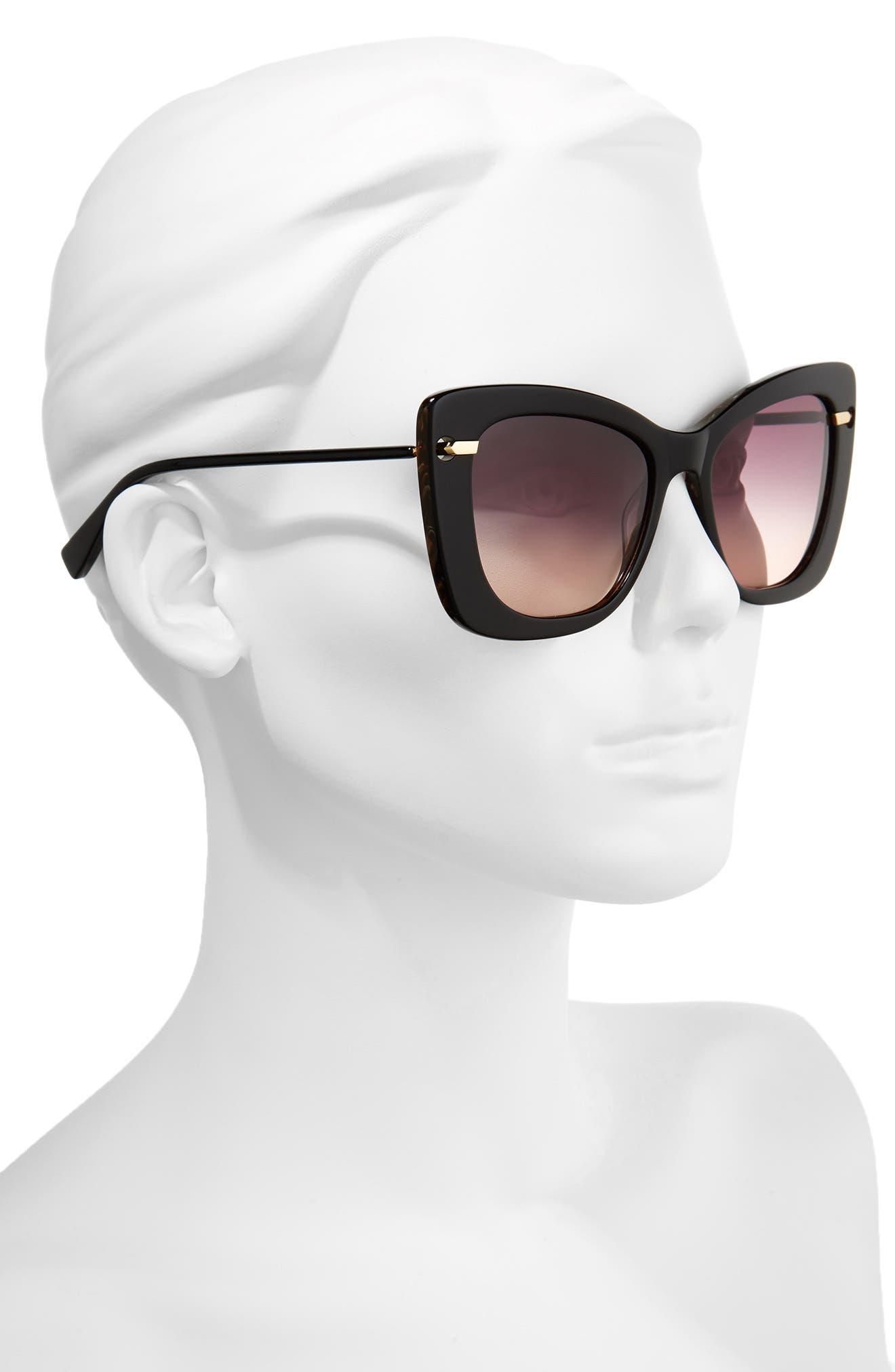 DEREK LAM,                             Clara 55mm Gradient Sunglasses,                             Alternate thumbnail 2, color,                             001