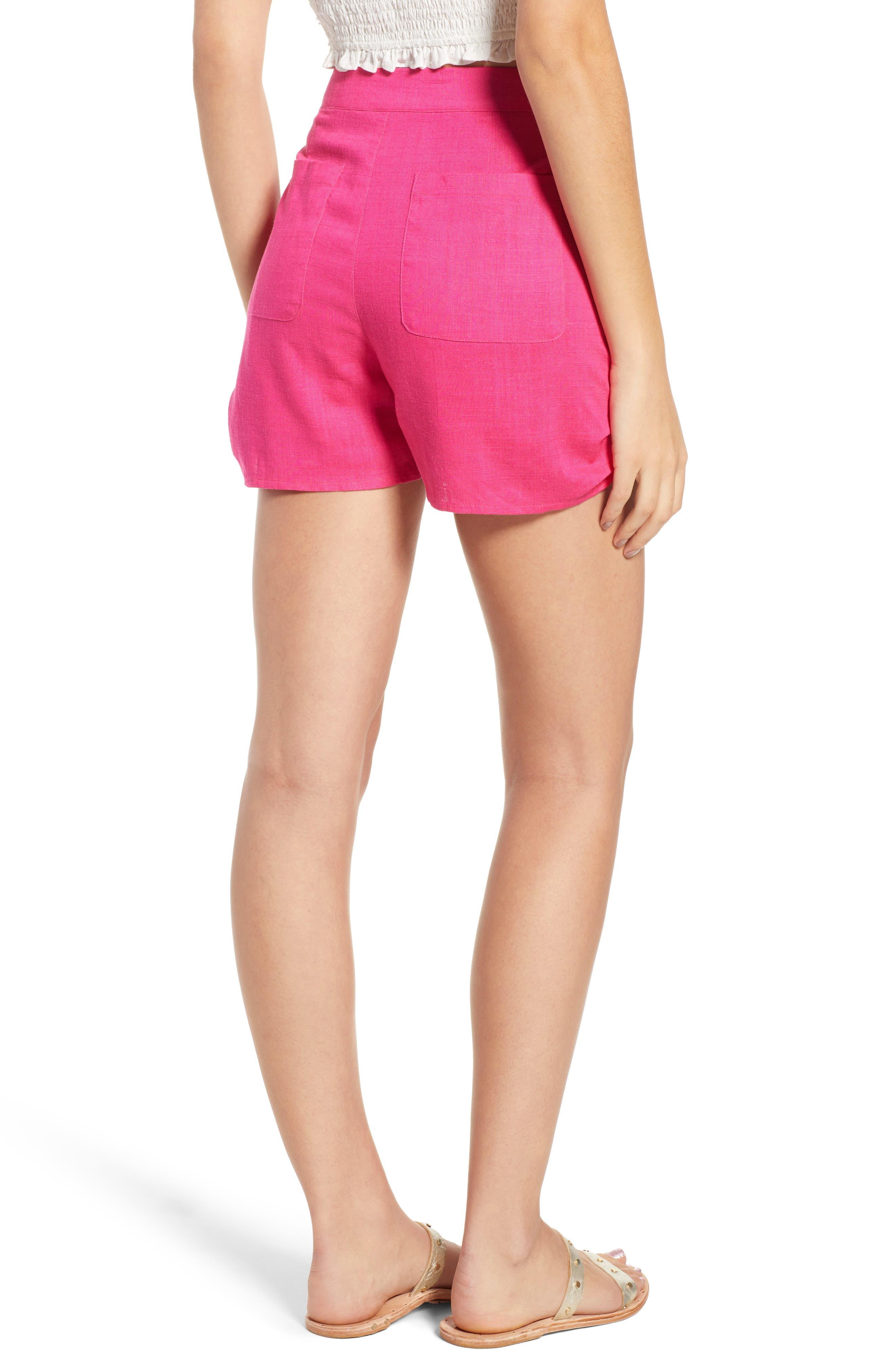 Button Front Linen & Cotton Shorts,                             Alternate thumbnail 2, color,                             650