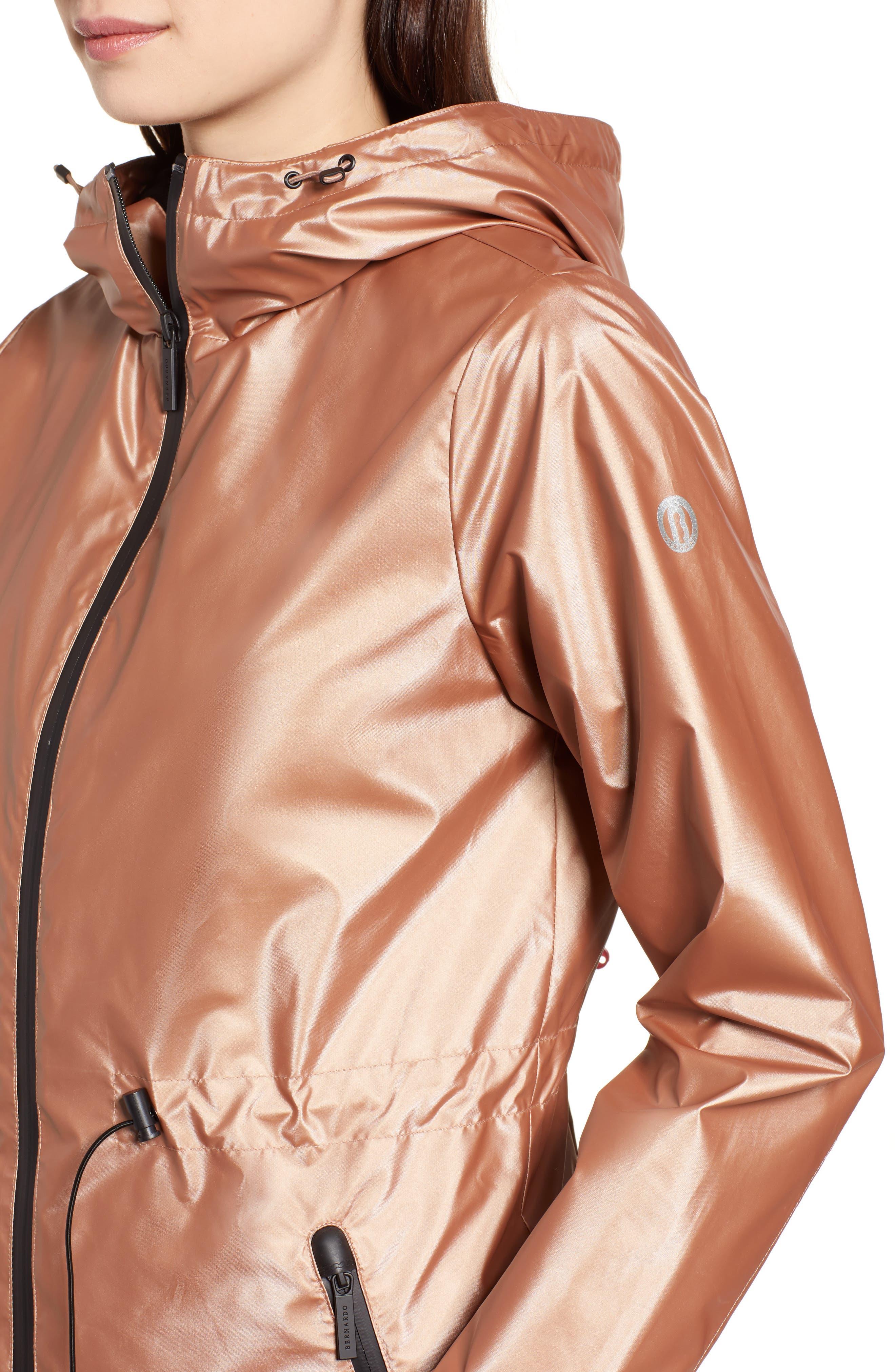 Metallic Rain Jacket,                             Alternate thumbnail 4, color,                             660