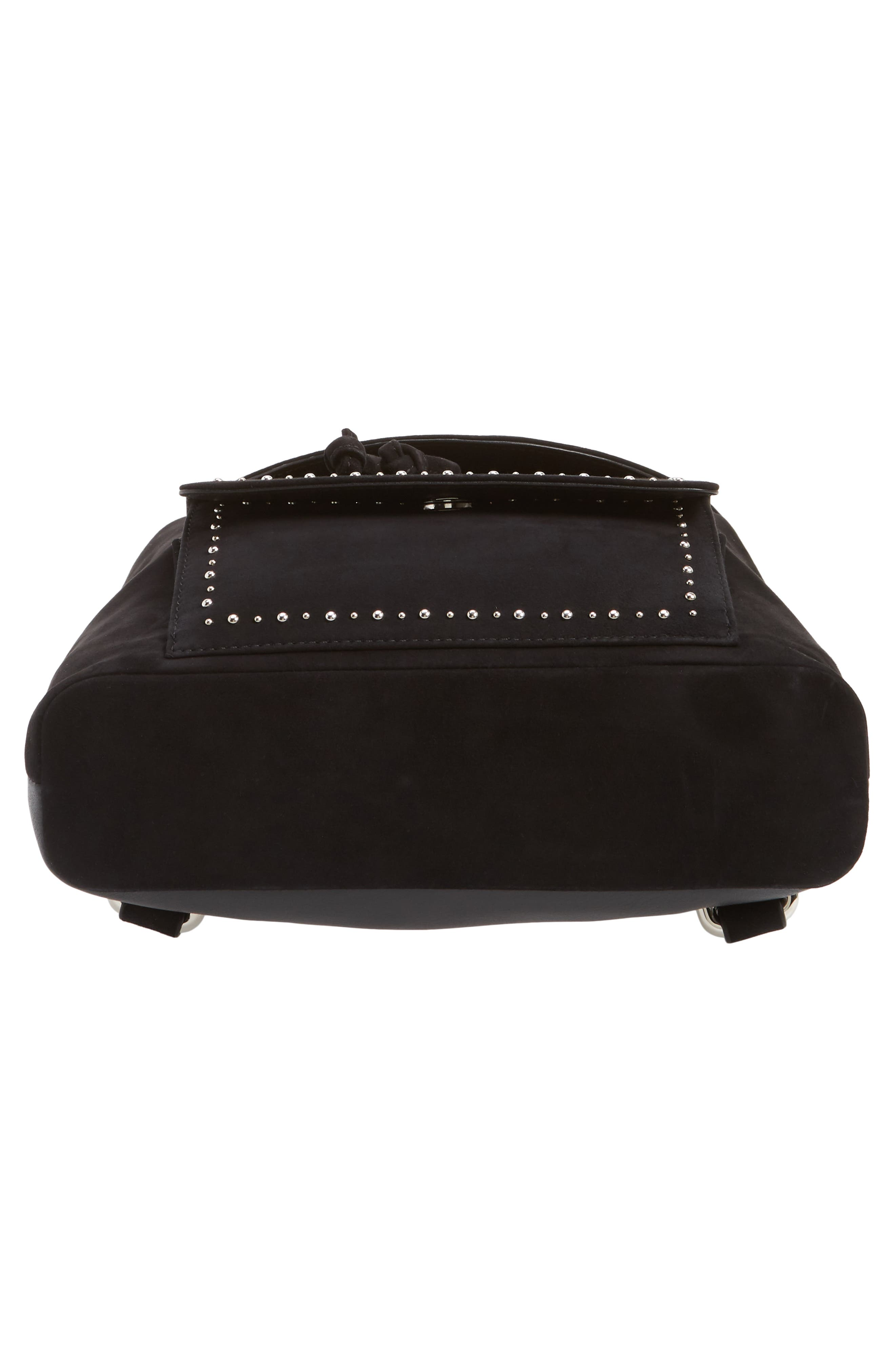 Mini Studded Suede Backpack,                             Alternate thumbnail 6, color,