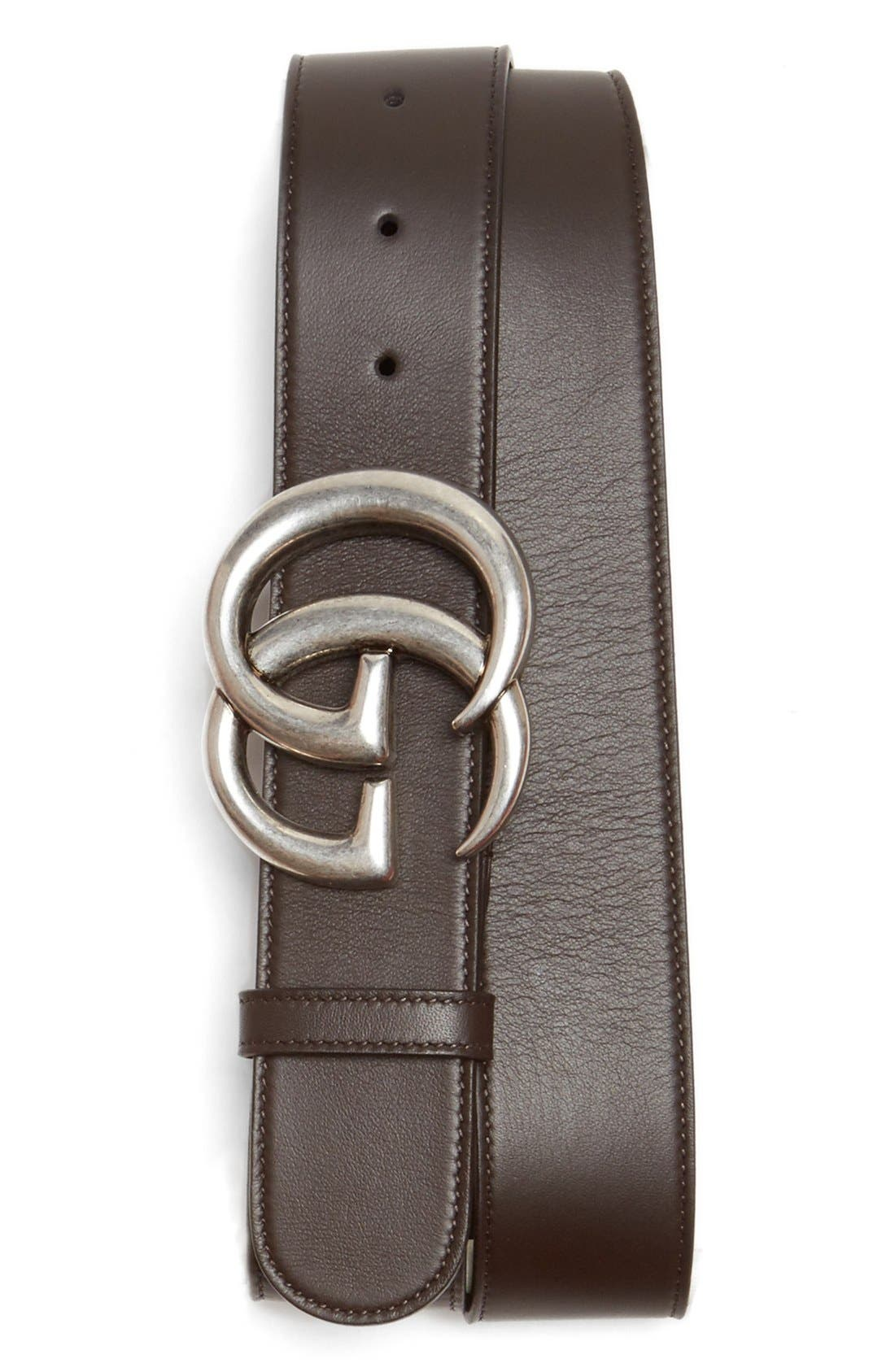 Logo Leather Belt,                             Main thumbnail 2, color,