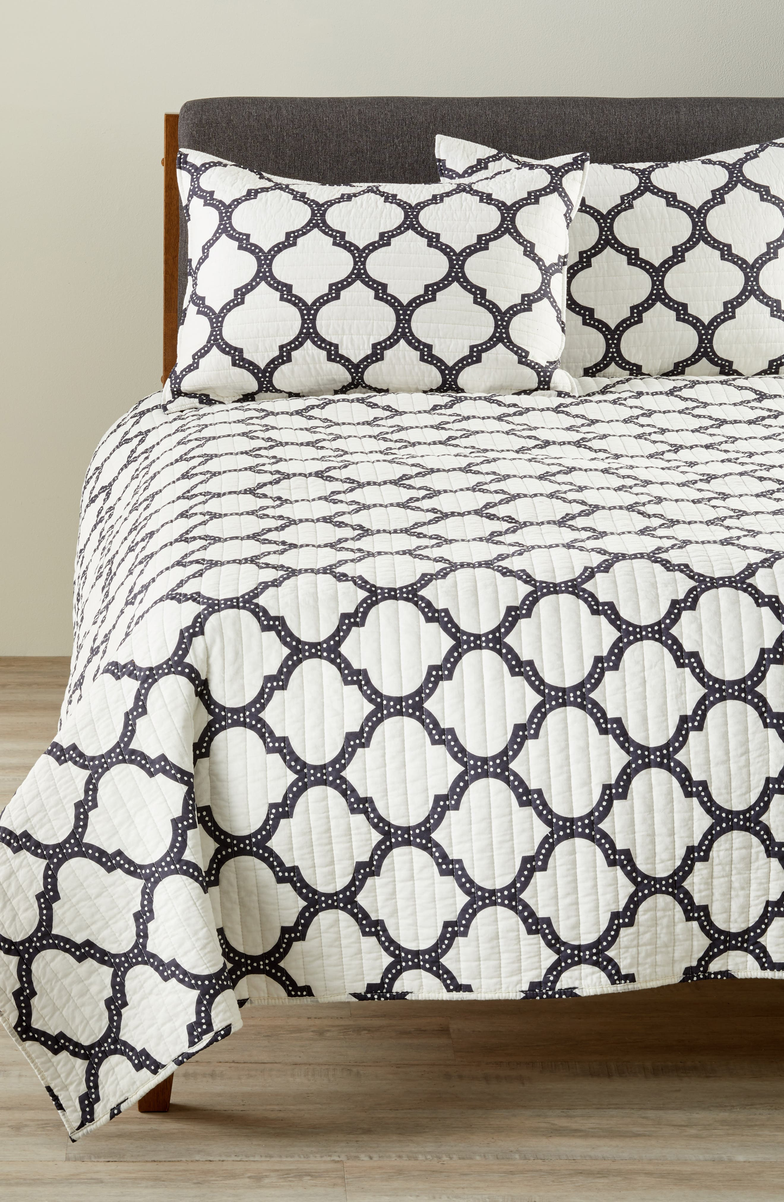 Moroccan Charcoal Quilt,                         Main,                         color,