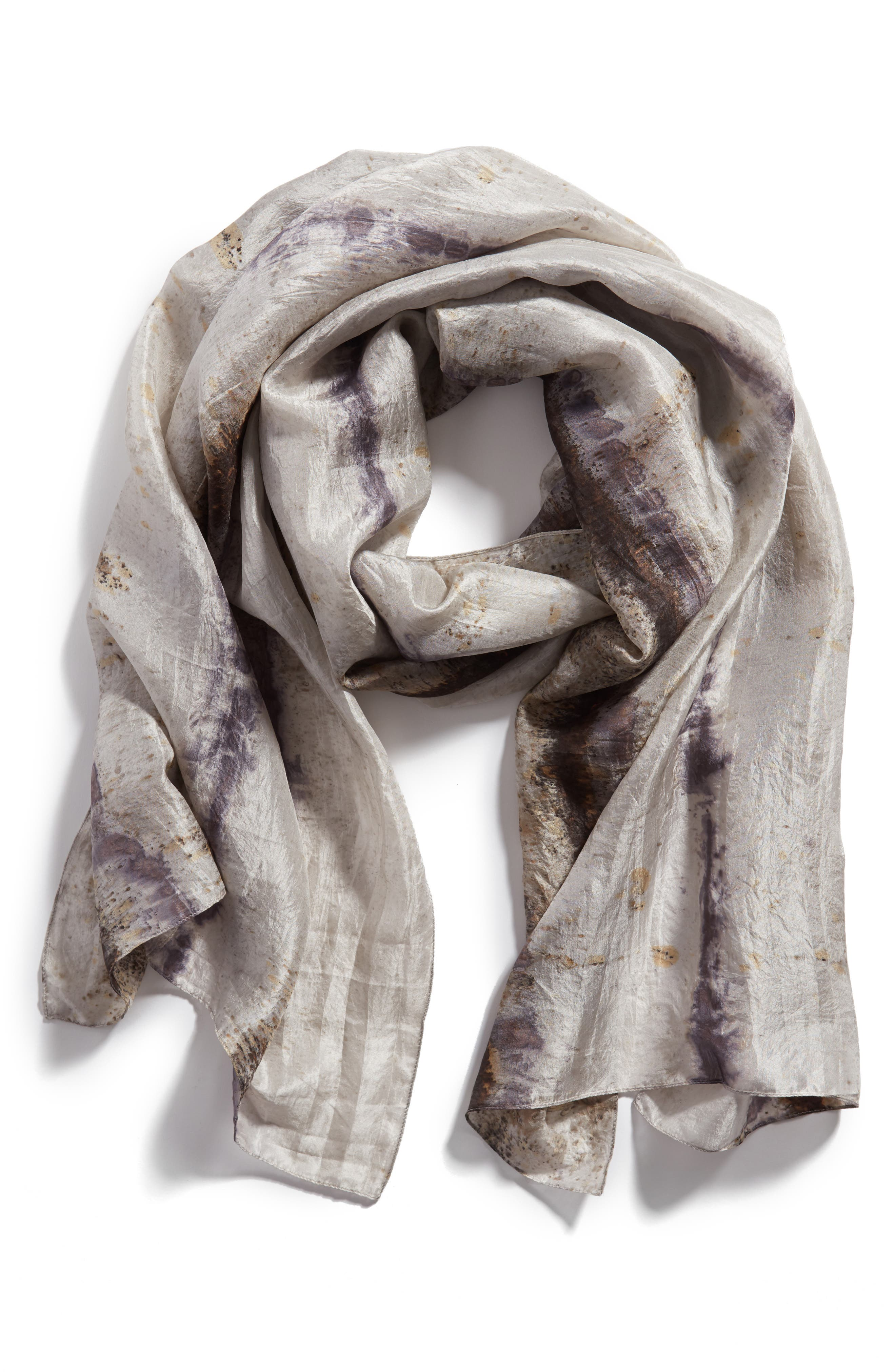 Stripe Silk Scarf,                             Alternate thumbnail 2, color,                             022