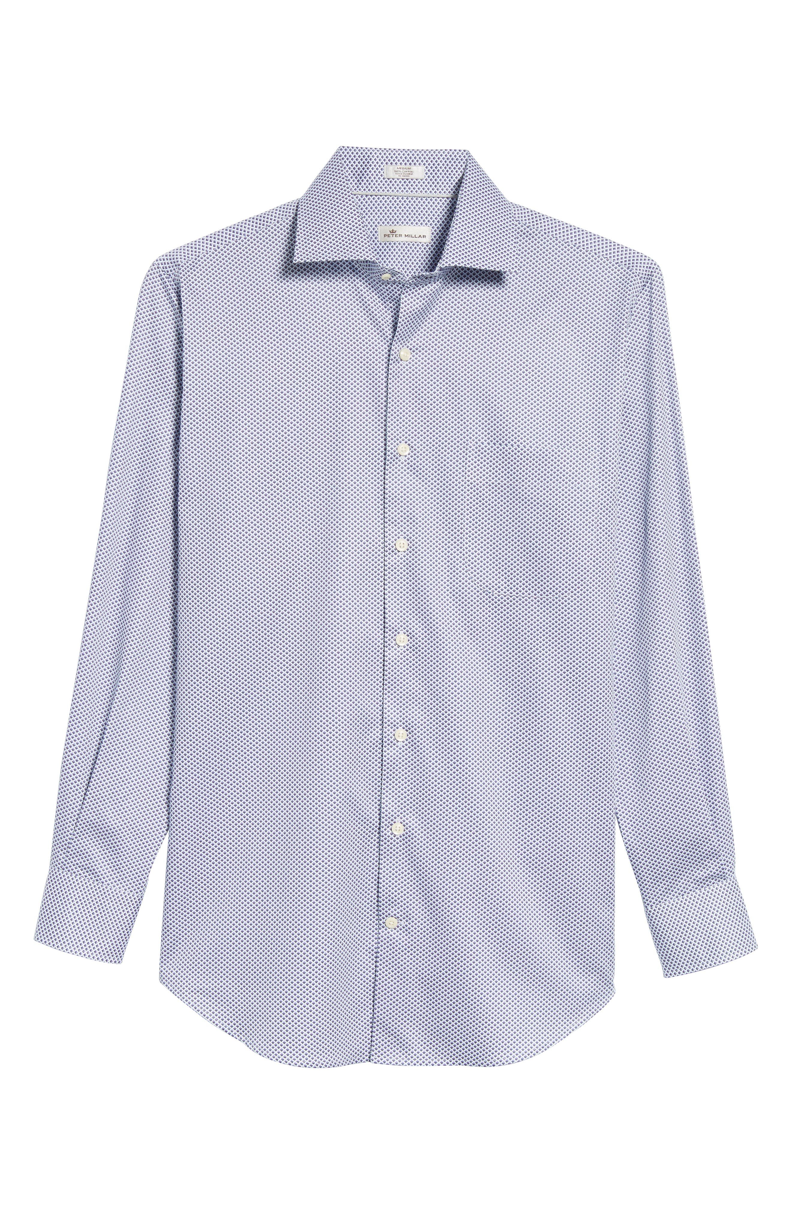 Geometric Horizon Sport Shirt,                             Alternate thumbnail 6, color,                             627