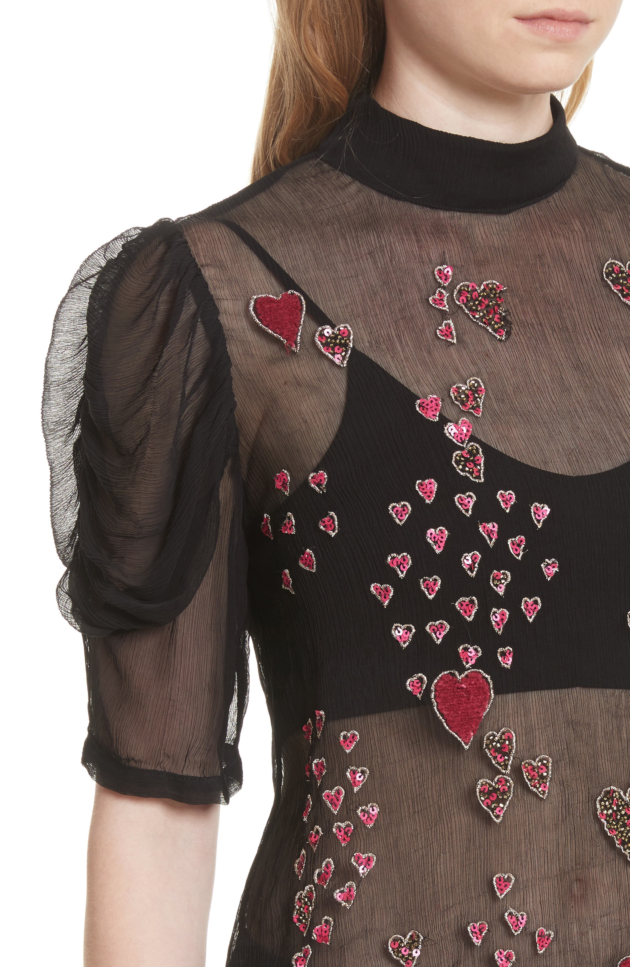 So in Love Embroidered Blouse,                             Alternate thumbnail 4, color,                             001