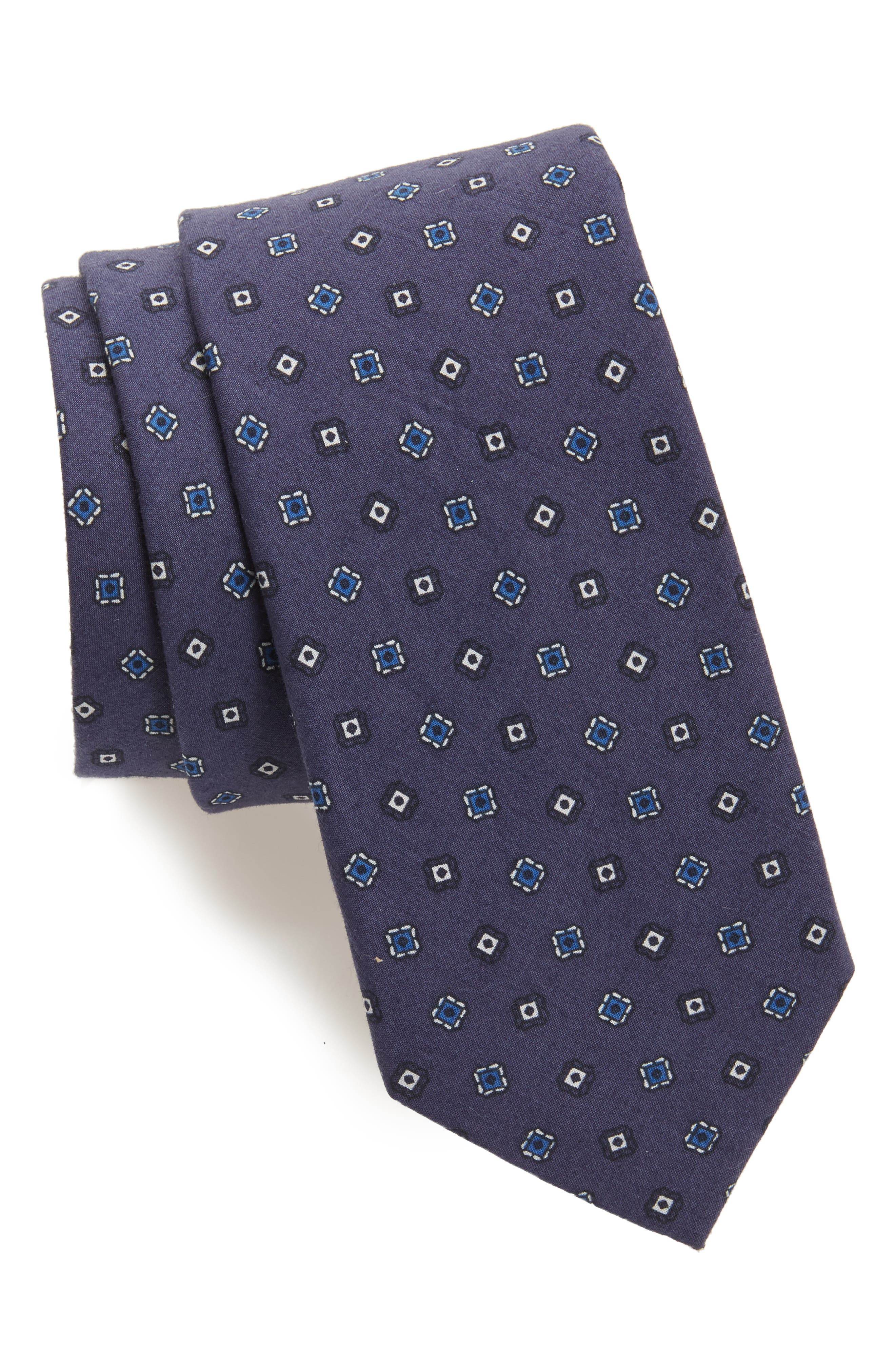 Medallion Cotton Tie,                             Main thumbnail 2, color,