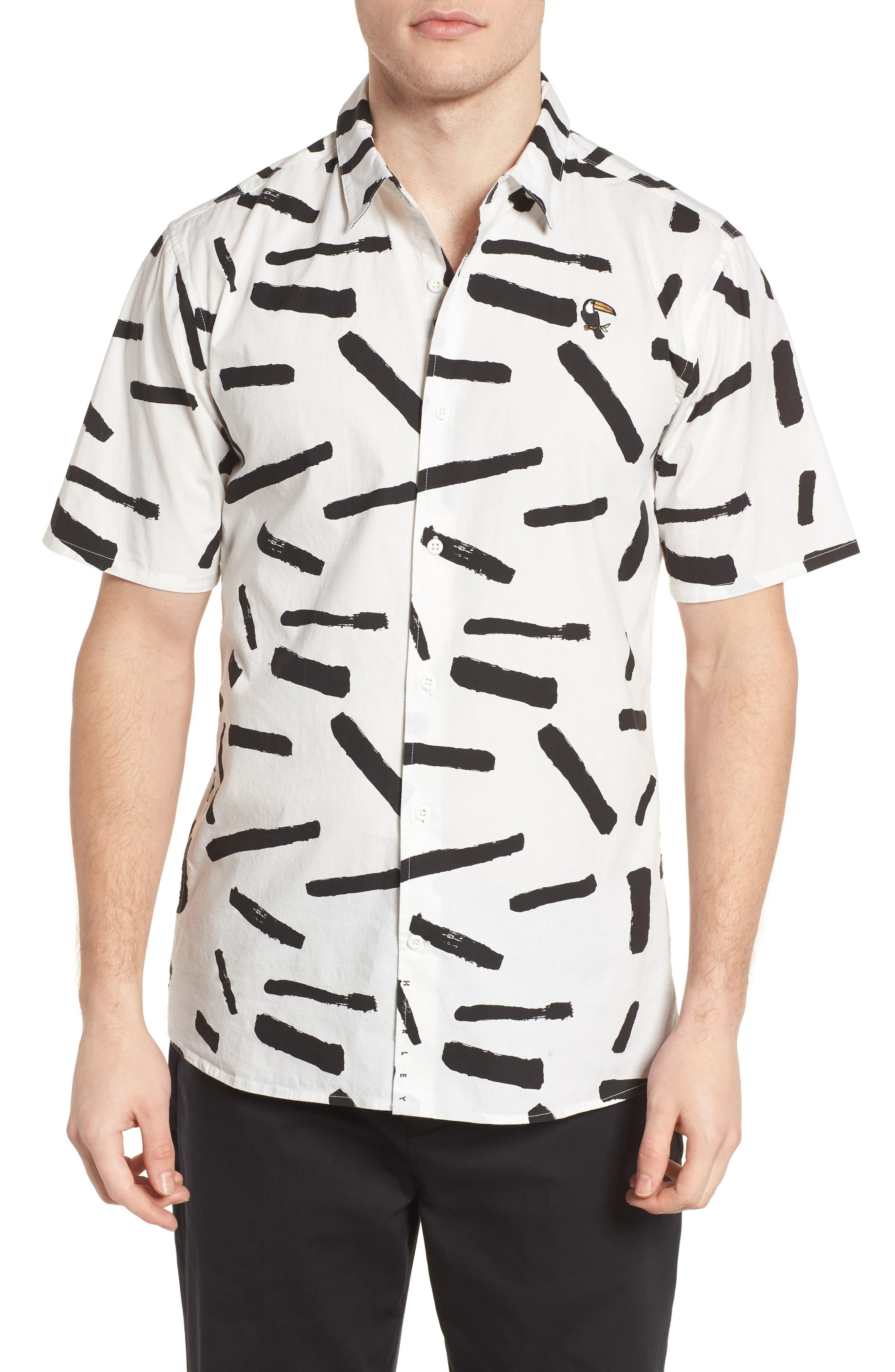 Print Short Sleeve Shirt,                             Main thumbnail 3, color,