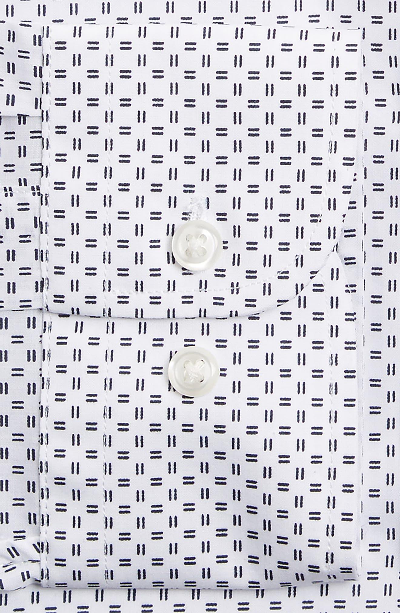 Extra Trim Fit Dress Shirt,                             Alternate thumbnail 2, color,                             100