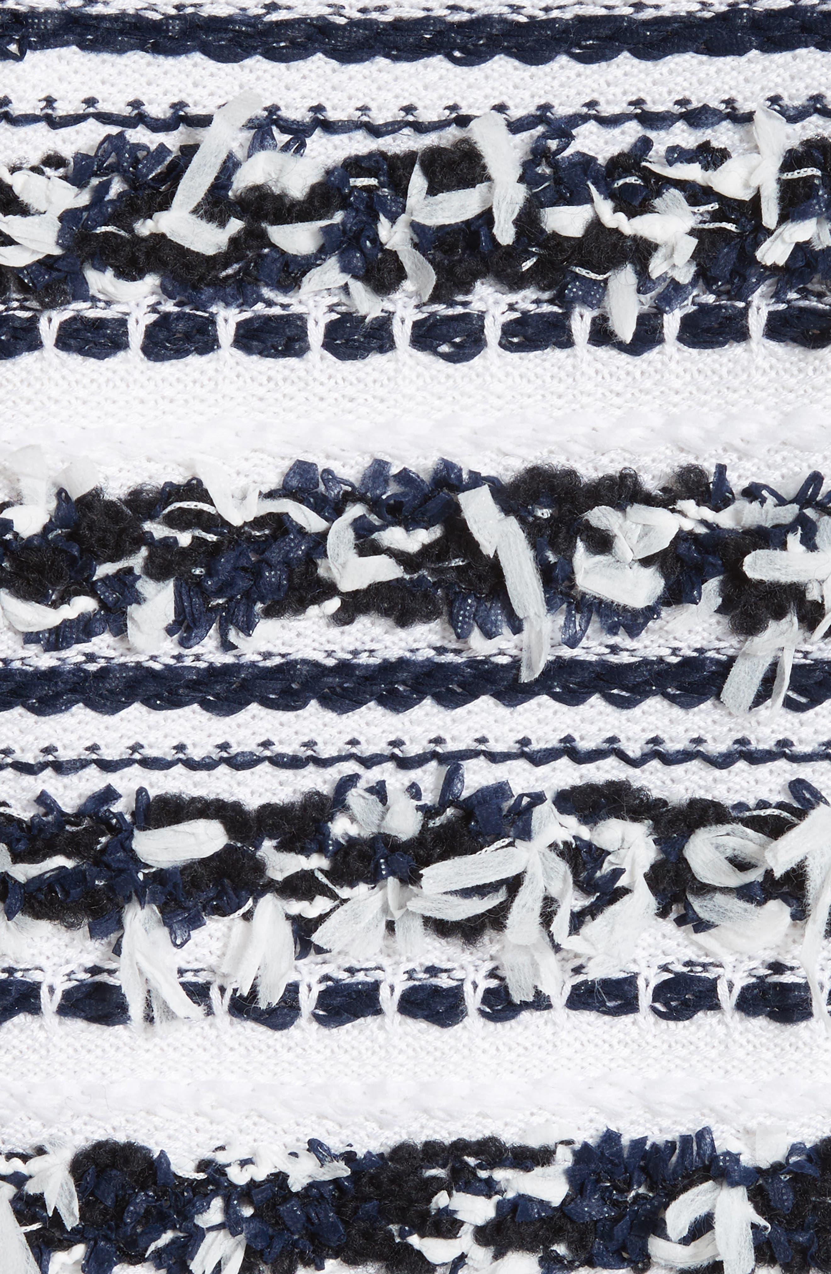 Adel Stripe Fringe Jacket,                             Alternate thumbnail 6, color,                             400