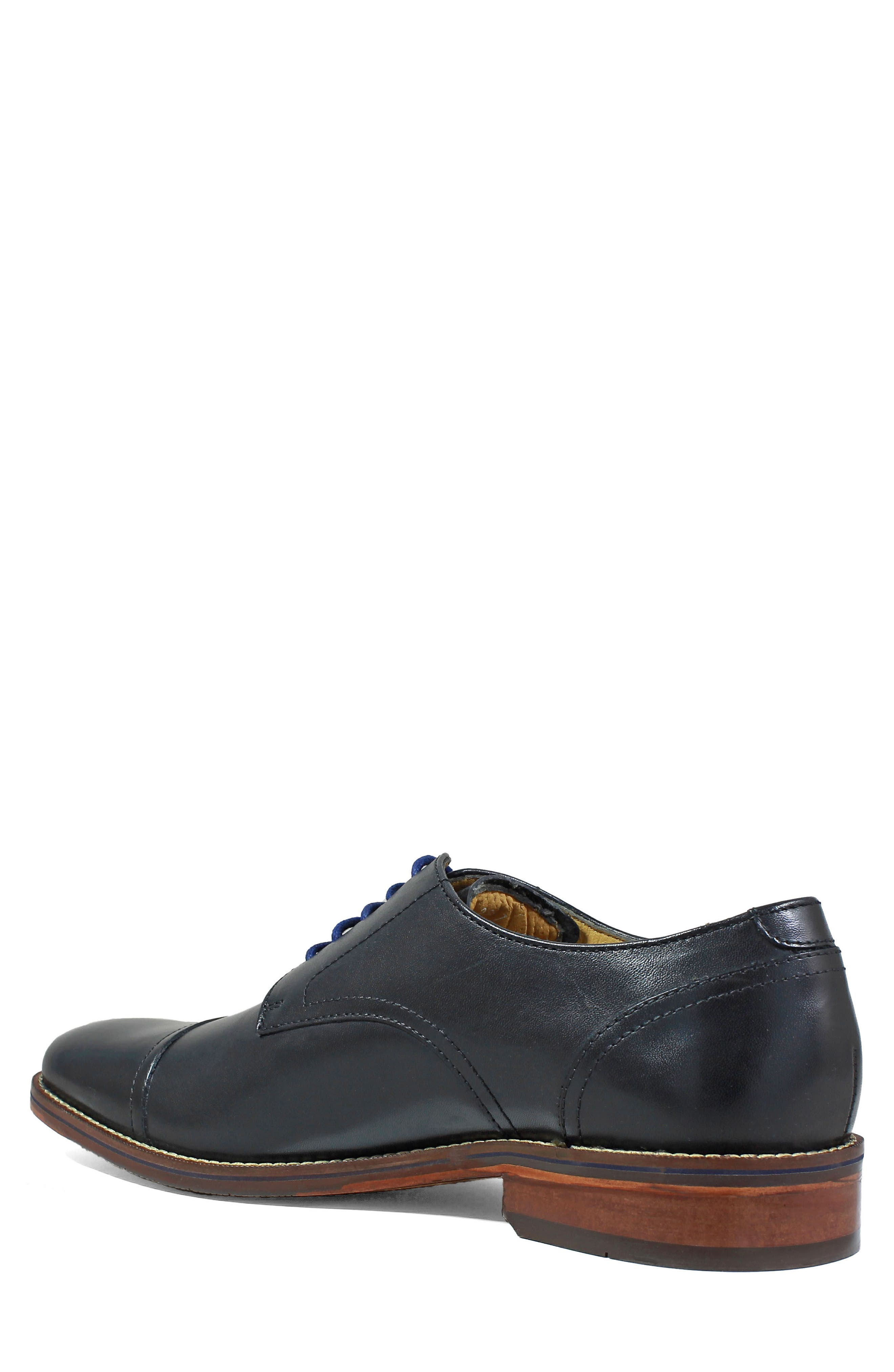 Salerno Cap Toe Derby,                             Alternate thumbnail 2, color,                             BLACK LEATHER