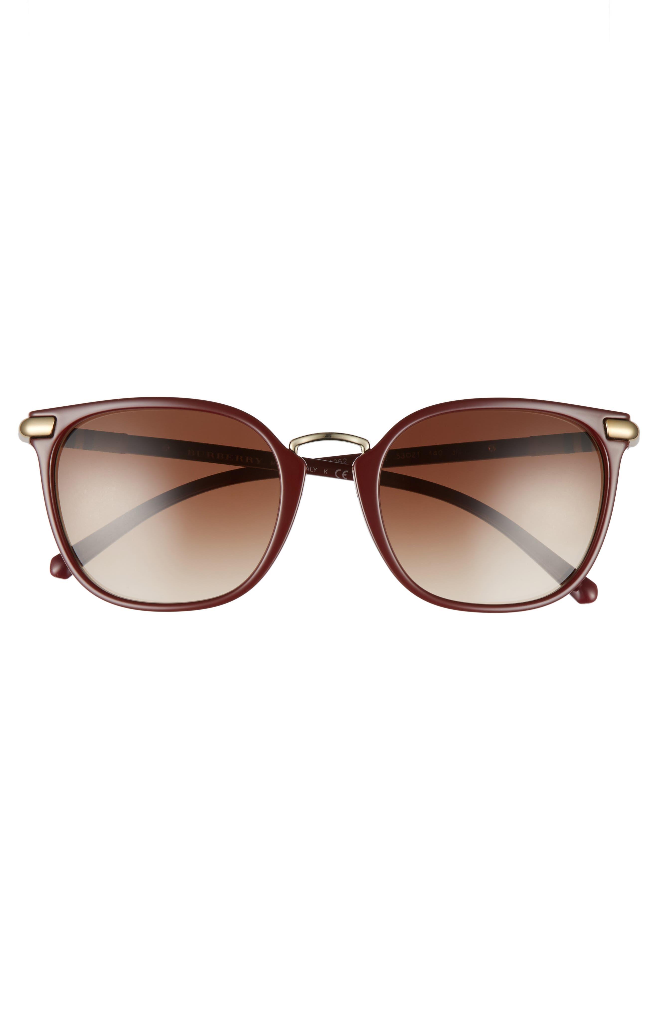 53mm Gradient Square Sunglasses,                             Alternate thumbnail 12, color,