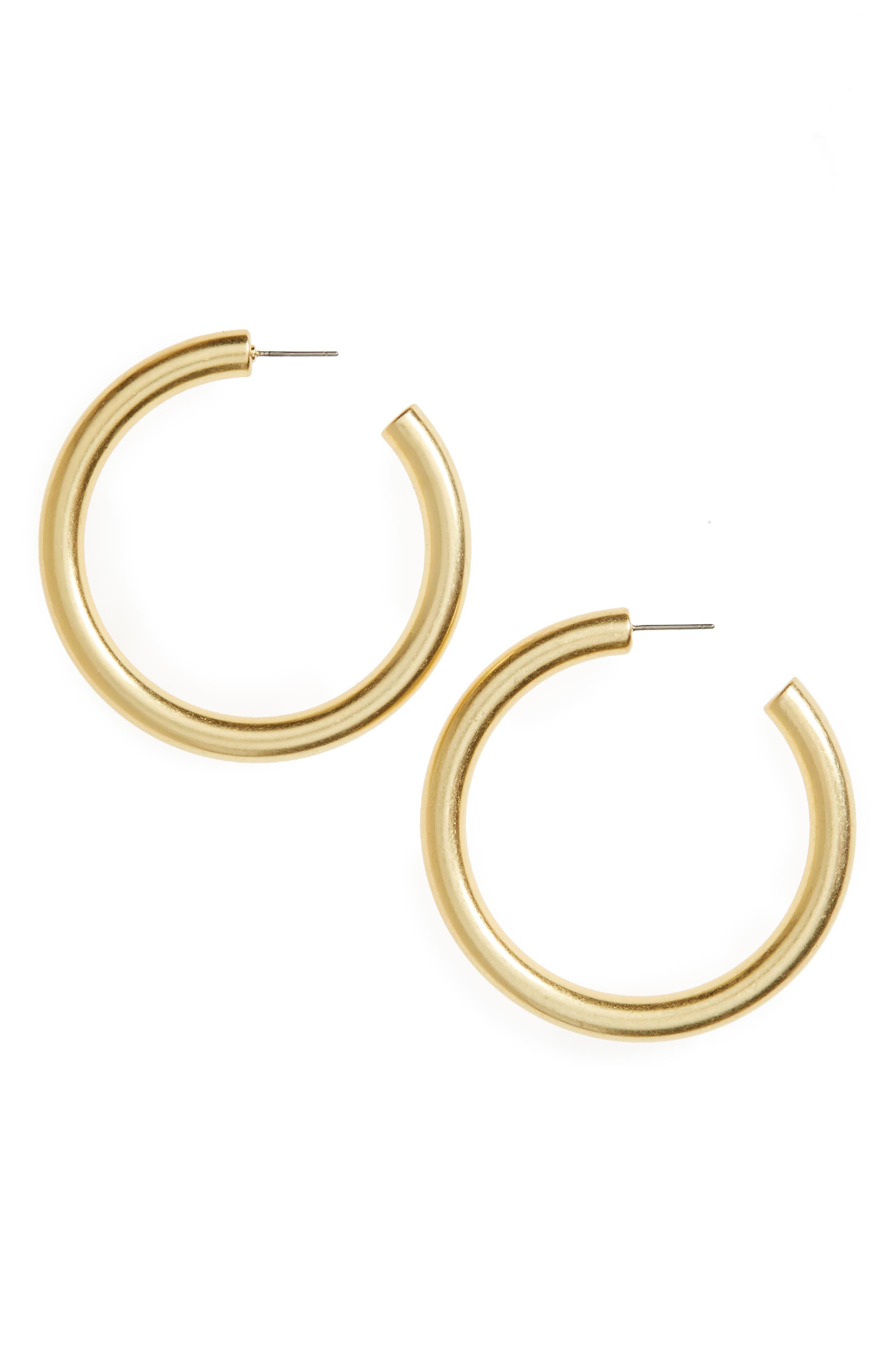 Simply Chunky Hoop Earrings,                             Main thumbnail 1, color,                             710