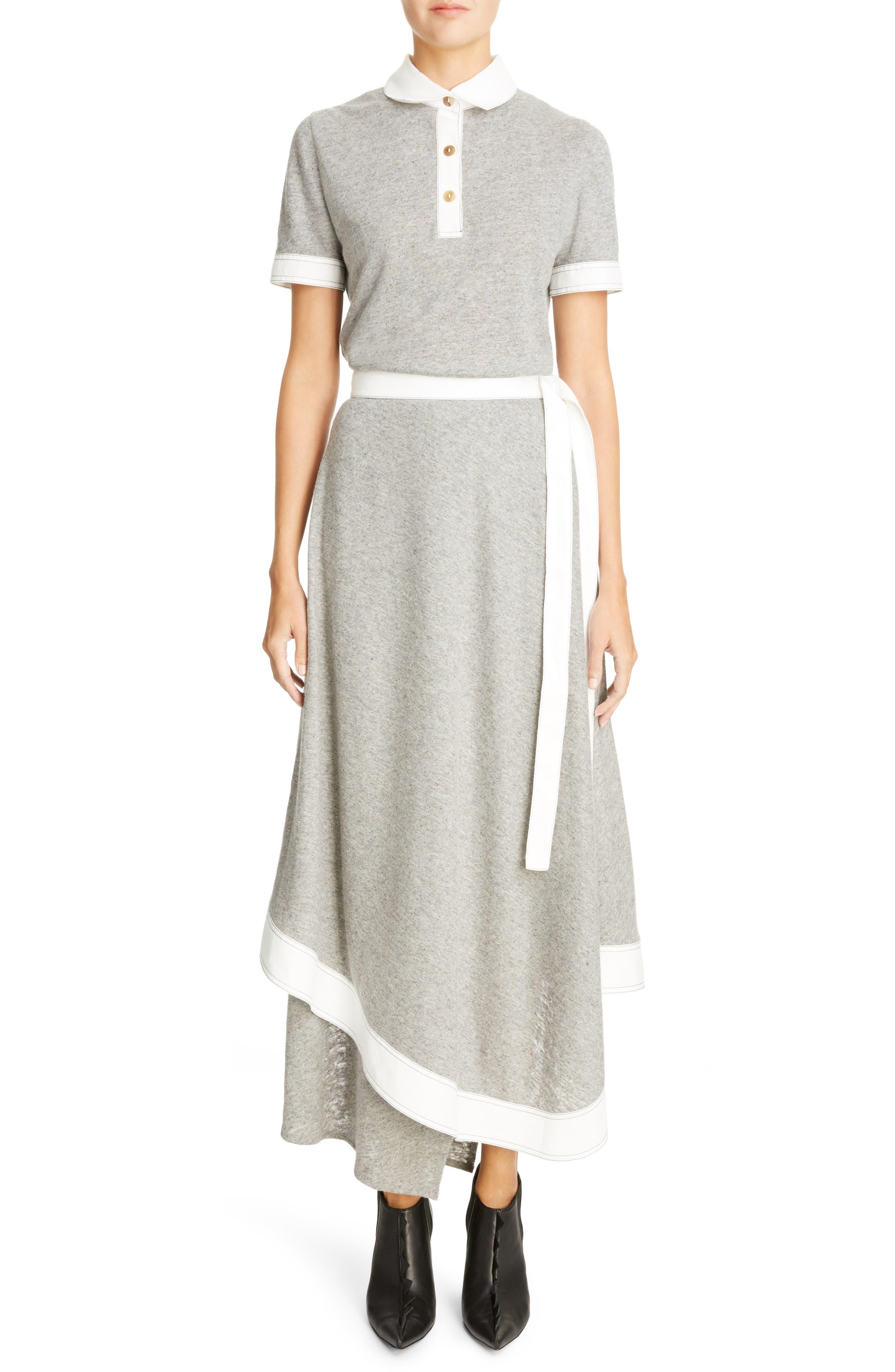 Asymmetrical Linen Blend Skirt,                             Alternate thumbnail 6, color,