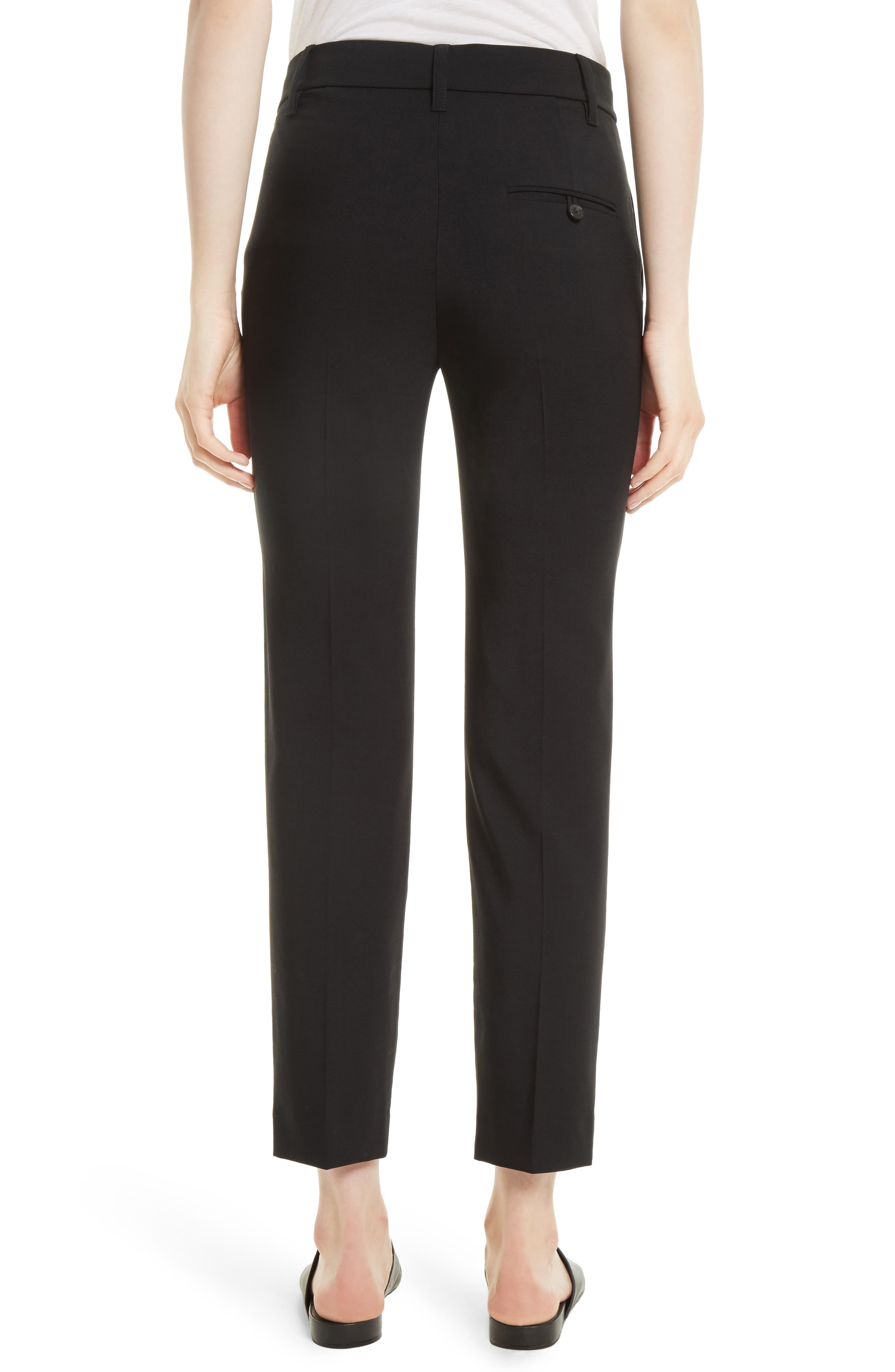 VINCE,                             Tapered Ankle Trousers,                             Alternate thumbnail 2, color,                             BLACK