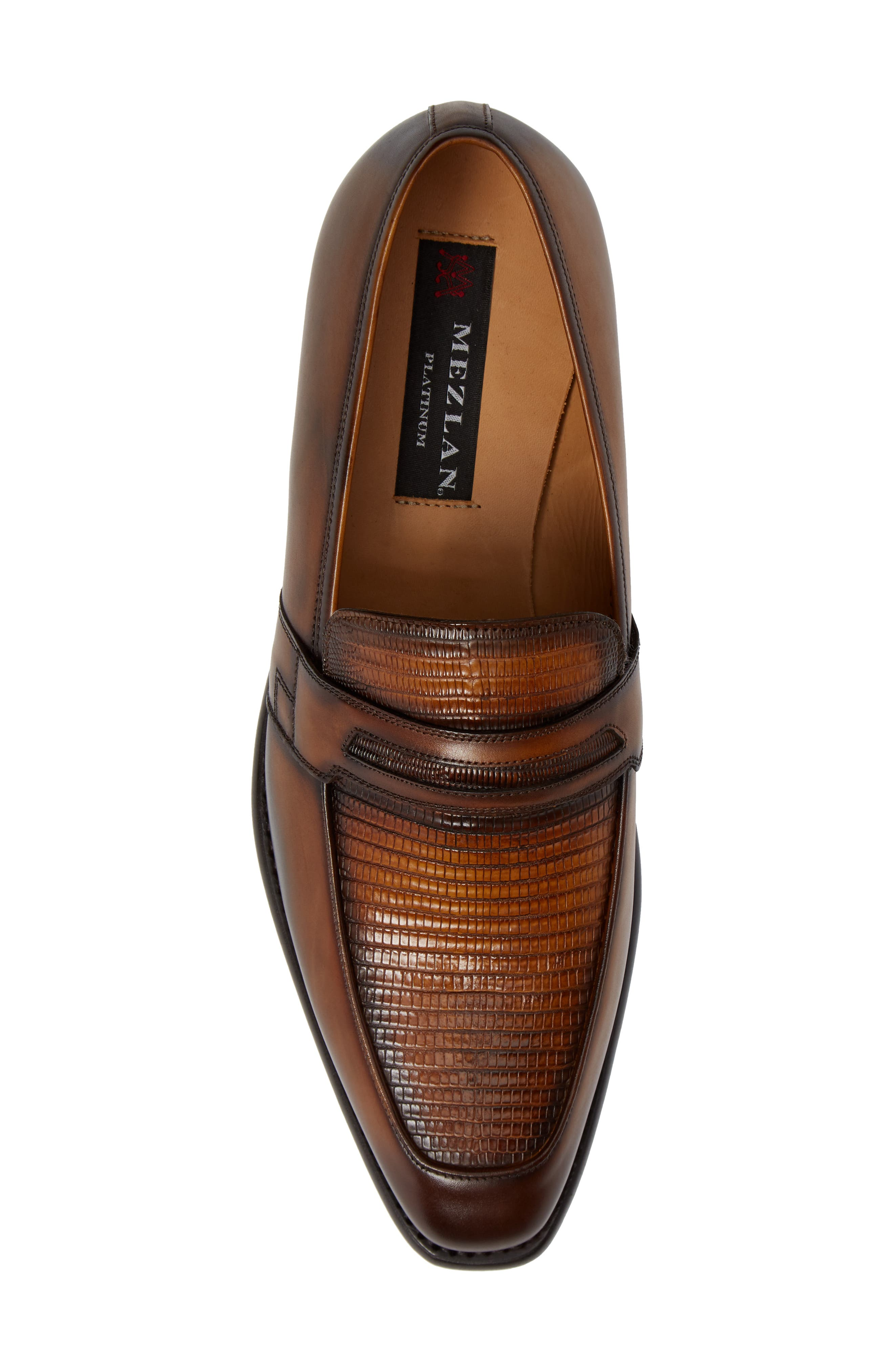Hess Penny Loafer,                             Alternate thumbnail 5, color,                             HONEY LEATHER
