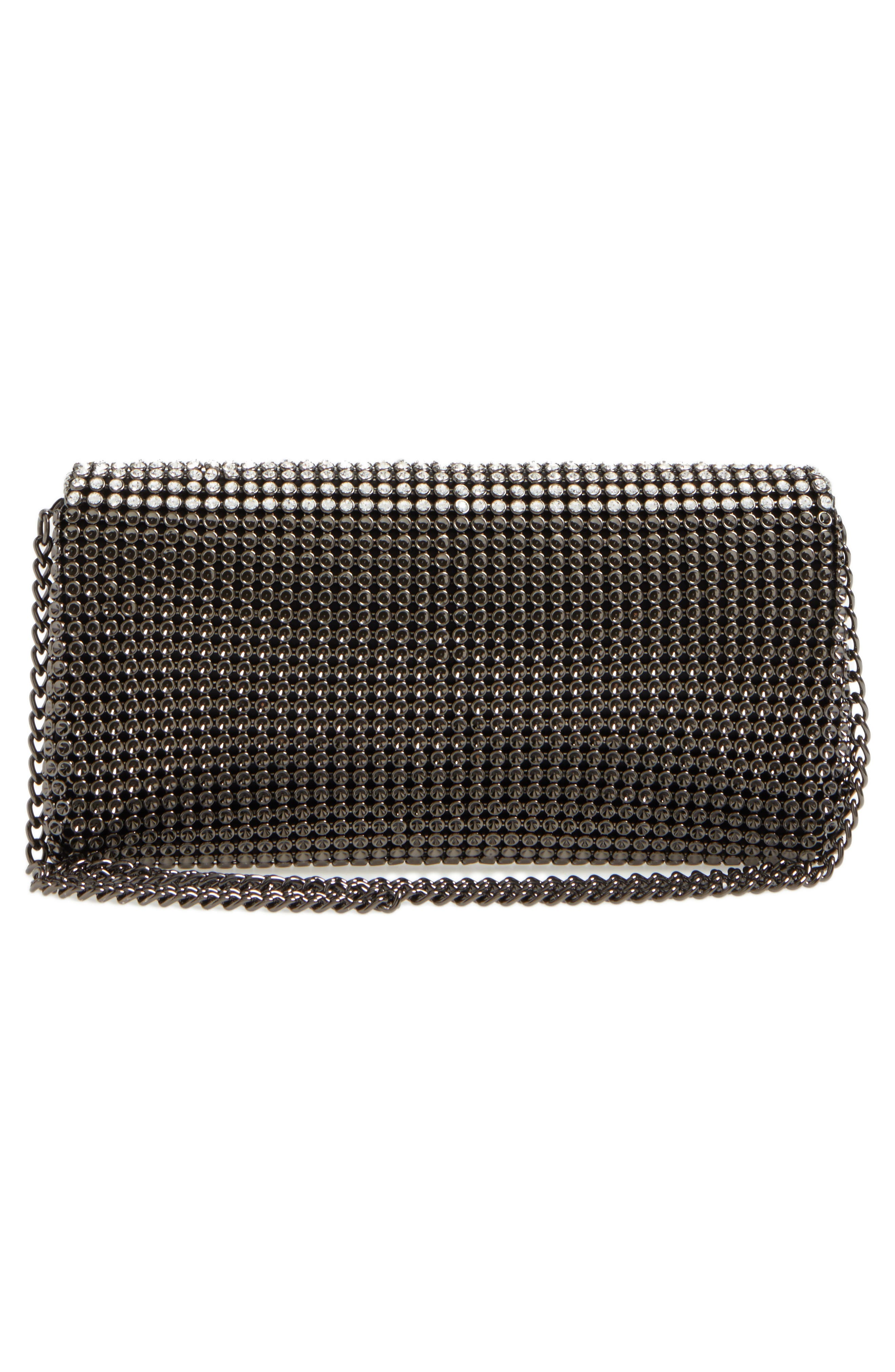 Crystal Triangle Clutch,                             Alternate thumbnail 3, color,                             041