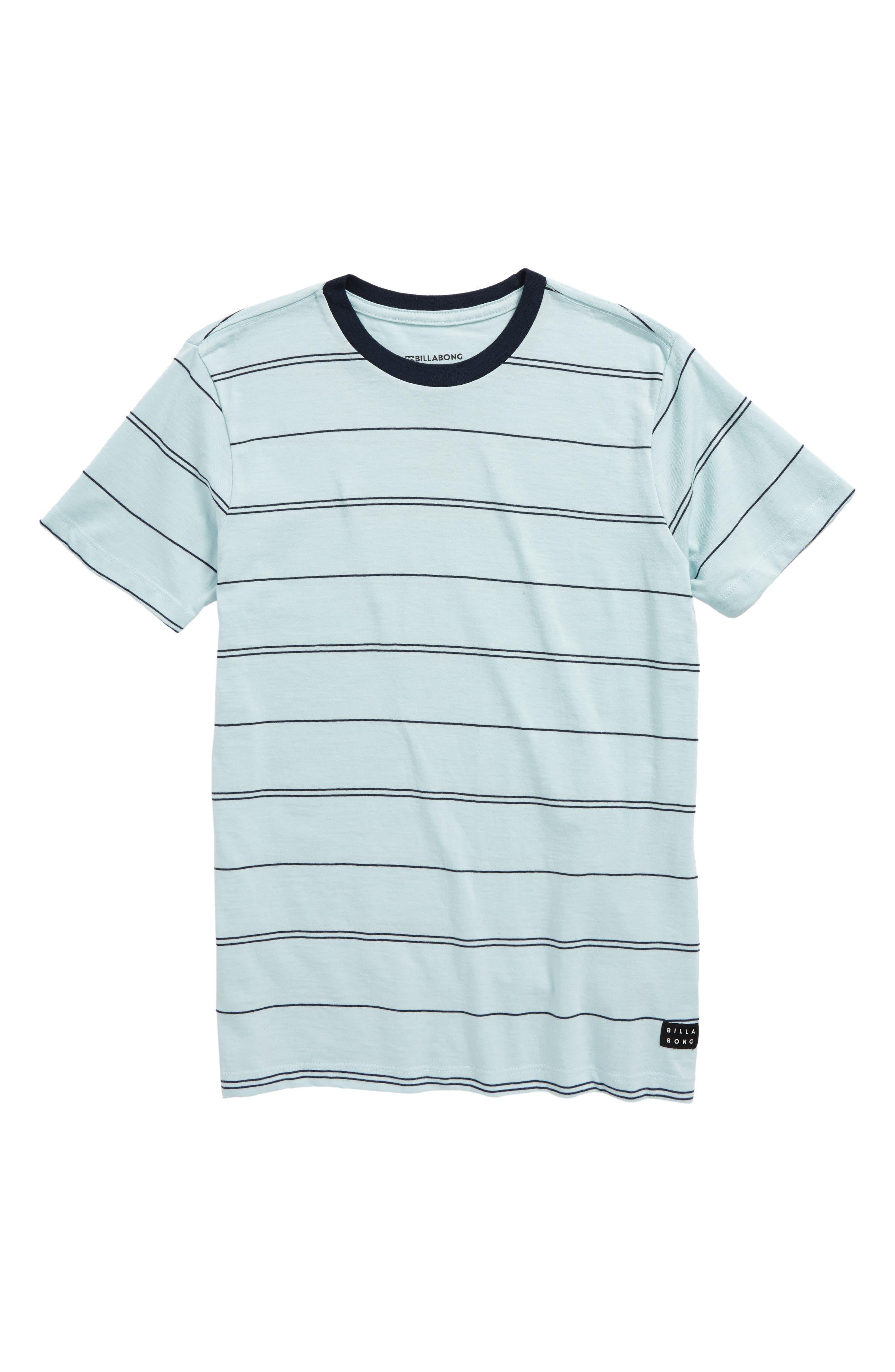 Die Cut Stripe Ringer T-Shirt,                             Main thumbnail 3, color,