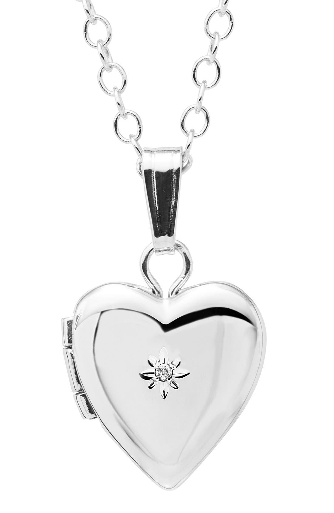 Mother & Daughter Locket Set,                             Alternate thumbnail 2, color,                             SILVER