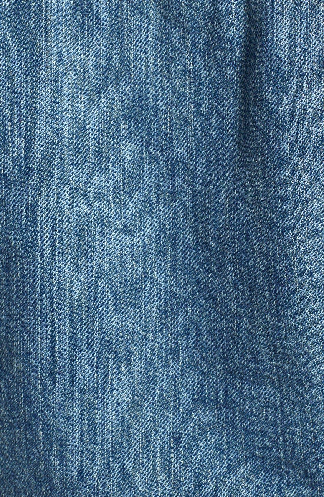 'Summer' Short Sleeve Denim Jacket,                             Alternate thumbnail 3, color,                             407