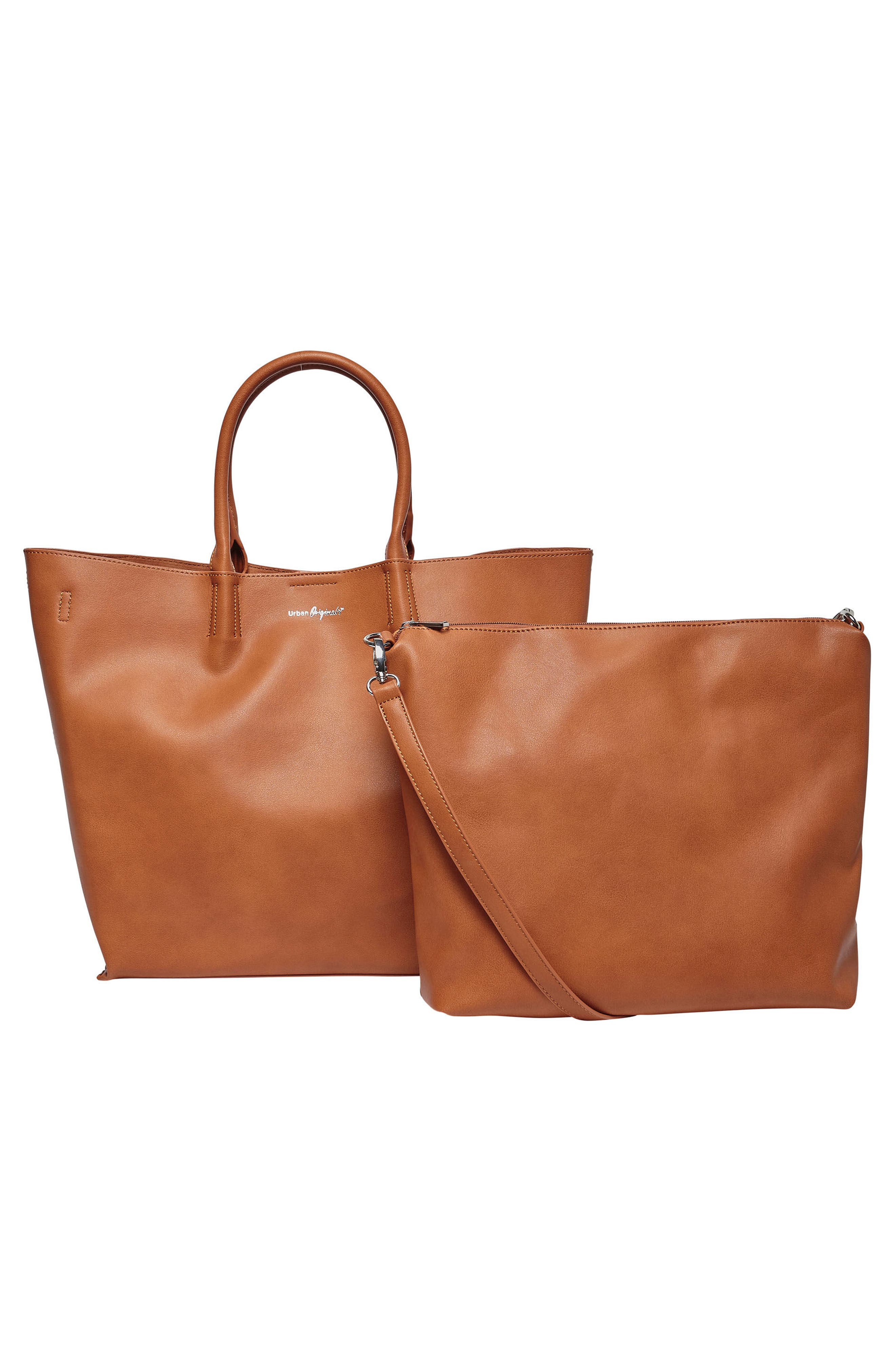 Butterfly Vegan Leather Tote,                             Alternate thumbnail 7, color,