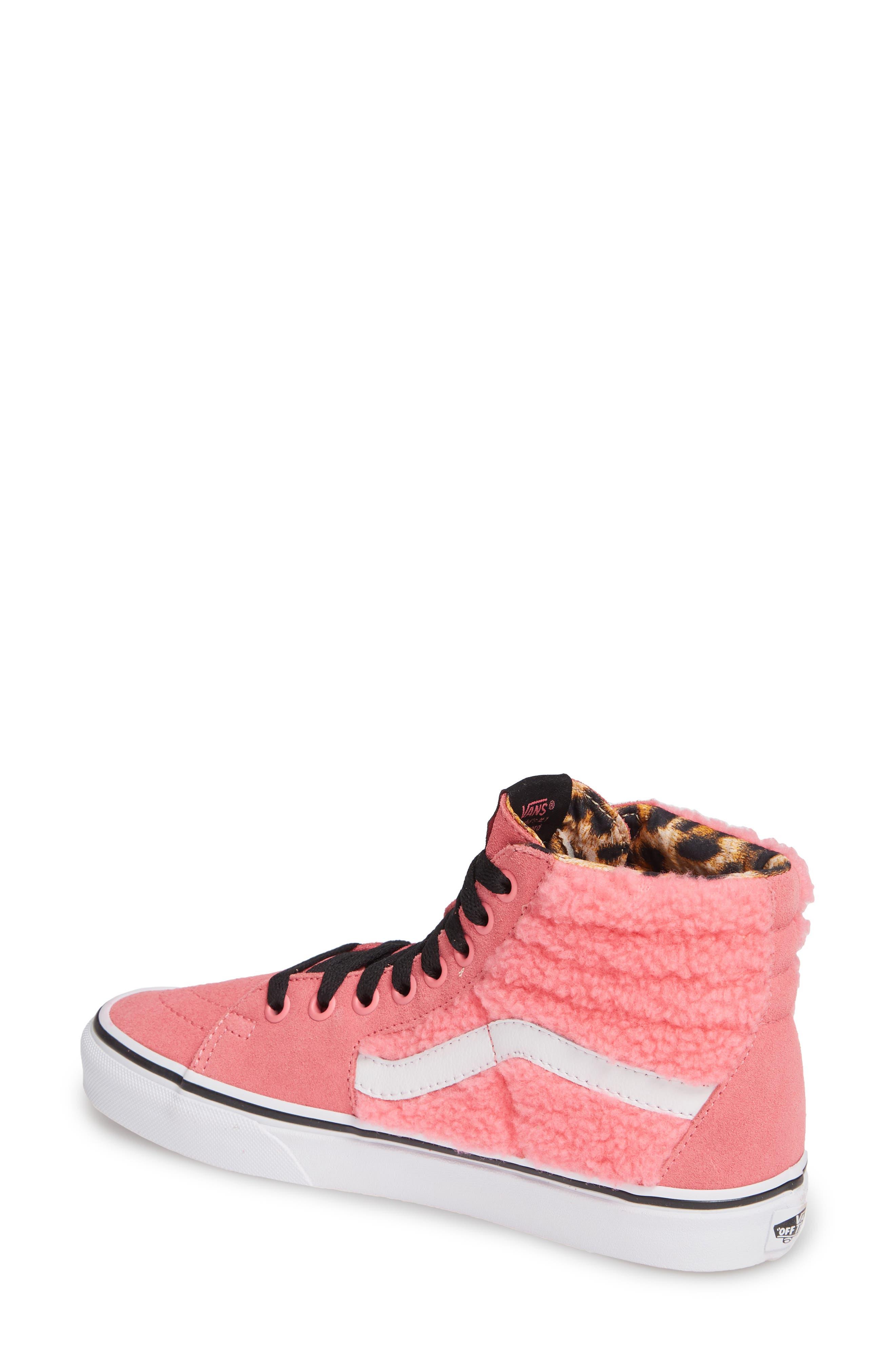 Sk8-Hi Faux Shearling High Top Sneaker,                             Alternate thumbnail 2, color,                             PINK LEMONADE