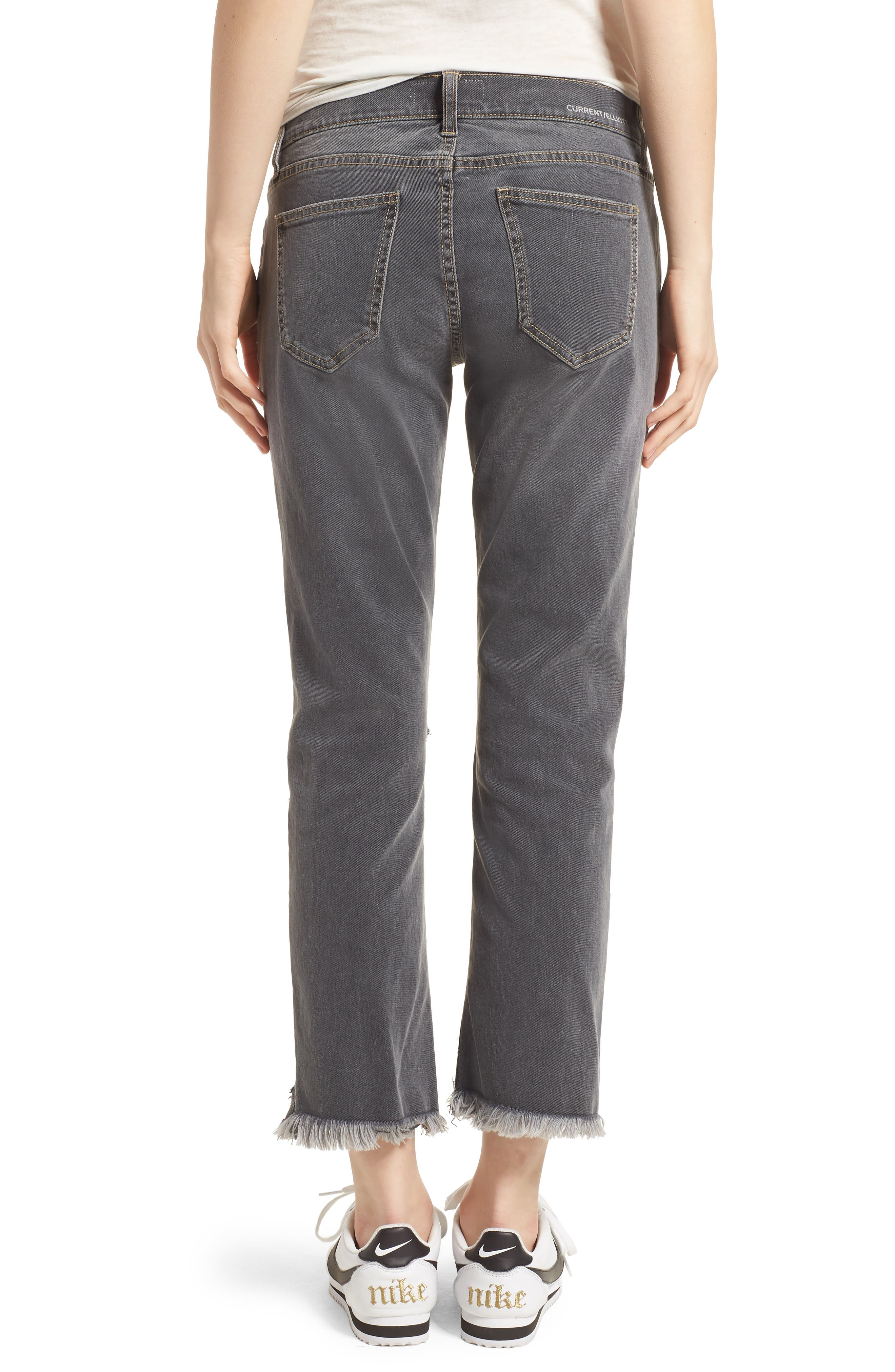 The Cropped Straight Leg Jeans,                             Alternate thumbnail 2, color,                             080