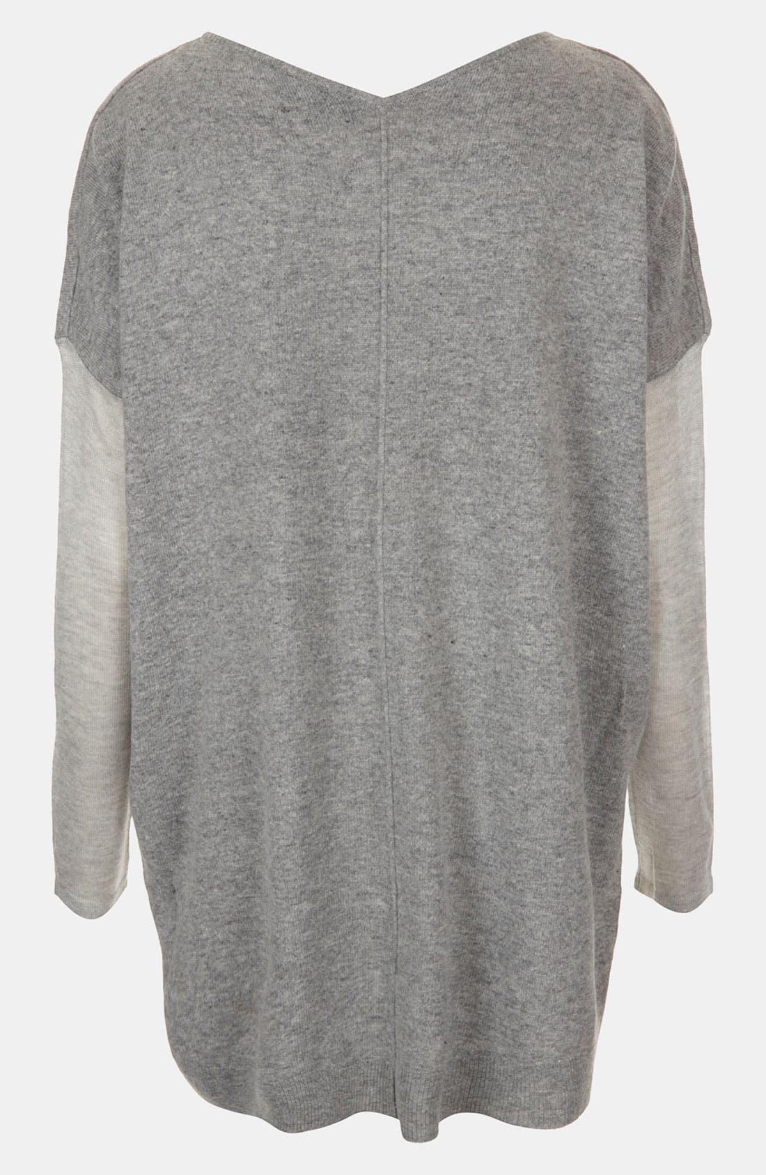 Mixed Media Drop Shoulder Sweater,                             Alternate thumbnail 3, color,                             050