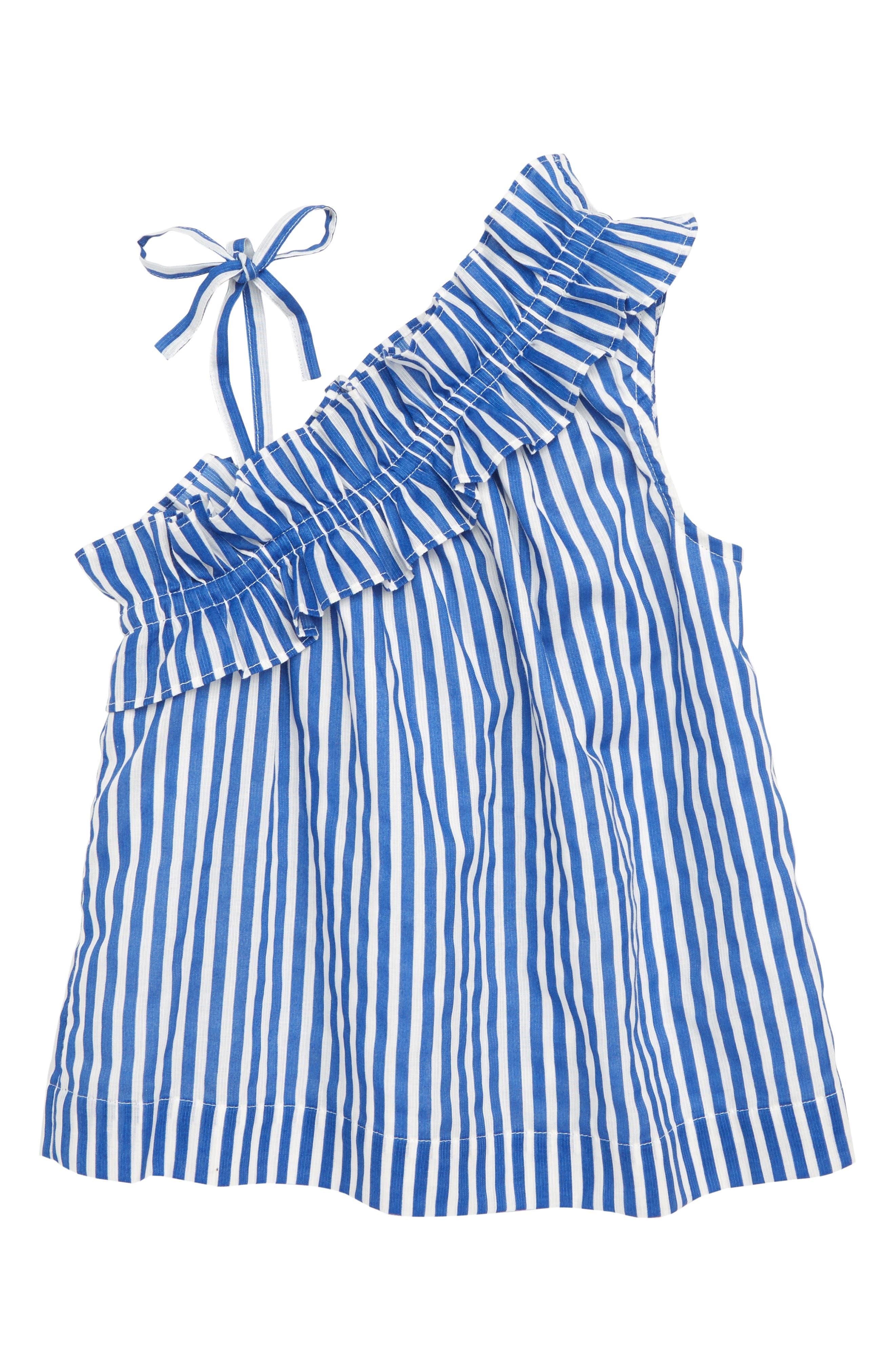 Stripe Asymmetrical Ruffle Top,                         Main,                         color, 400