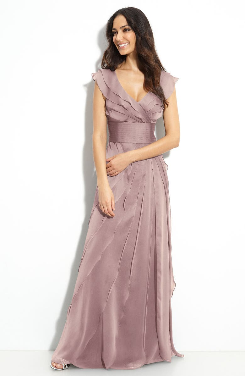 Adrianna Papell Tiered Chiffon Gown (Regular & Petite) | Nordstrom