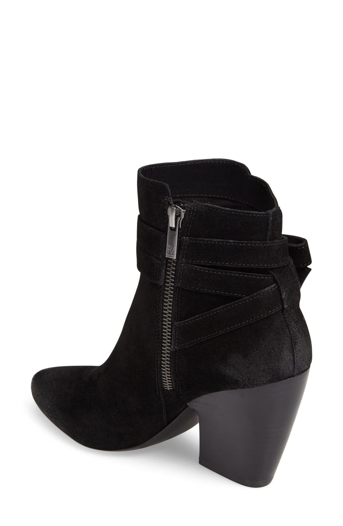 PELLE MODA,                             Jax Block Heel Bootie,                             Alternate thumbnail 2, color,                             001