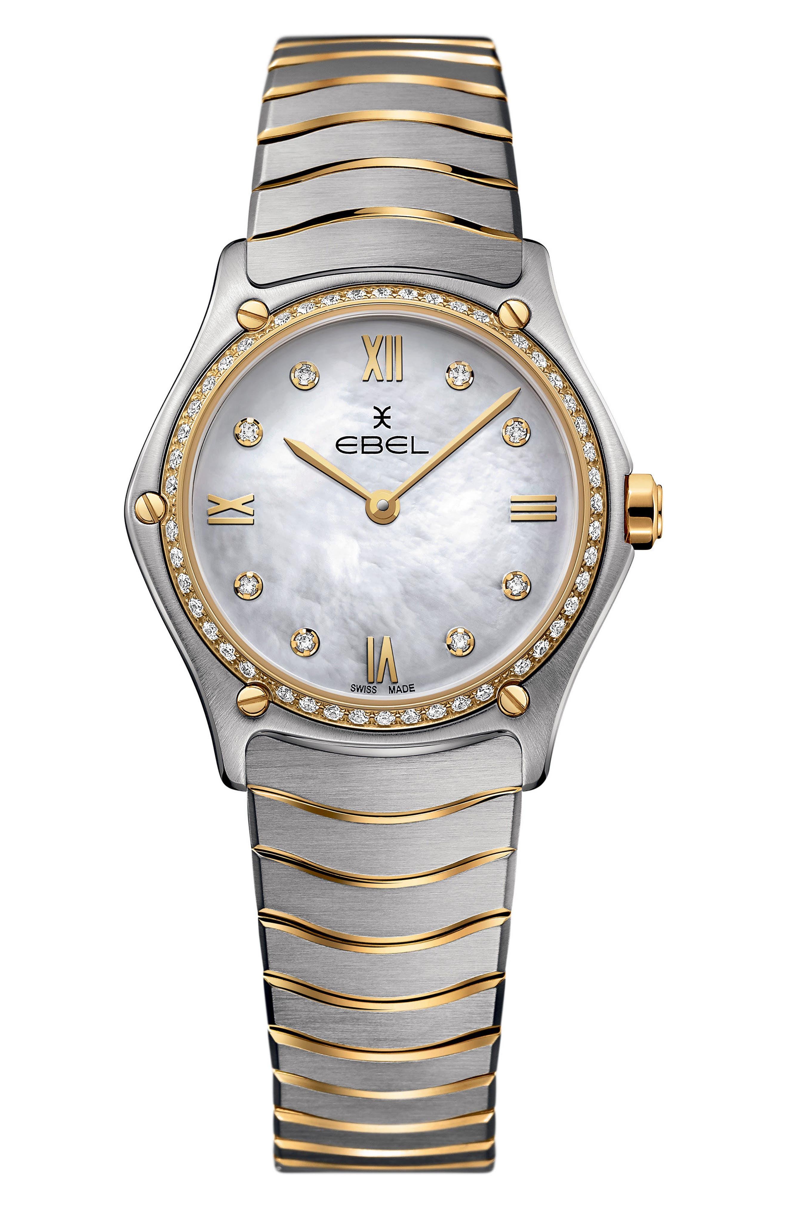 Sport Classic Diamond Bracelet Watch, 29mm,                             Main thumbnail 1, color,                             041