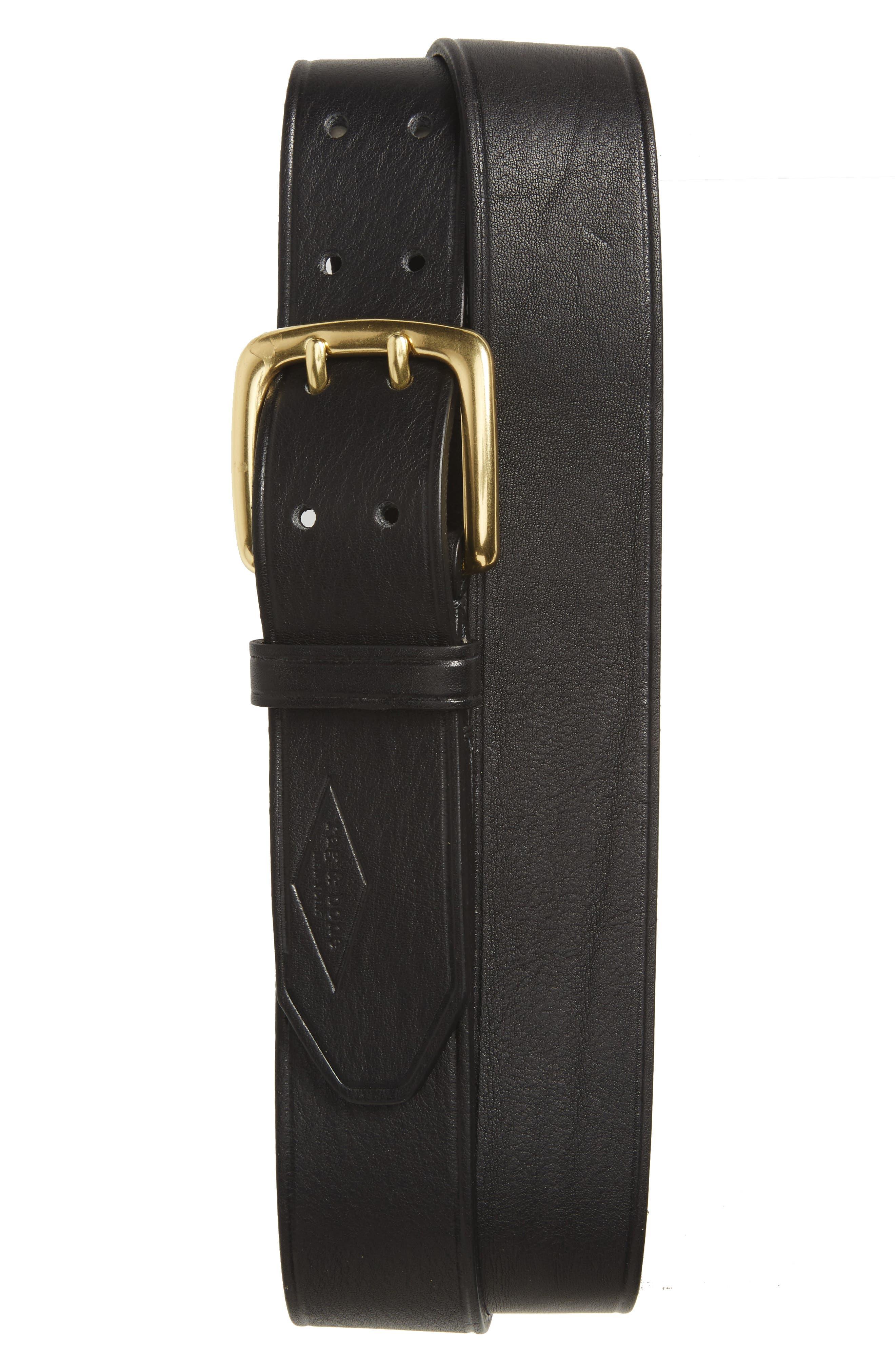 Leather Belt,                             Main thumbnail 1, color,                             BLACK