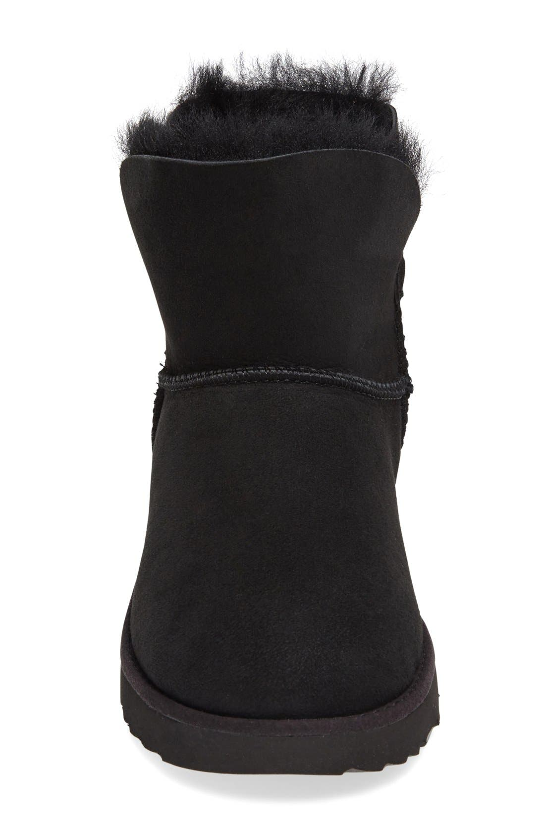 Classic Cuff Mini Boot,                             Alternate thumbnail 3, color,                             001