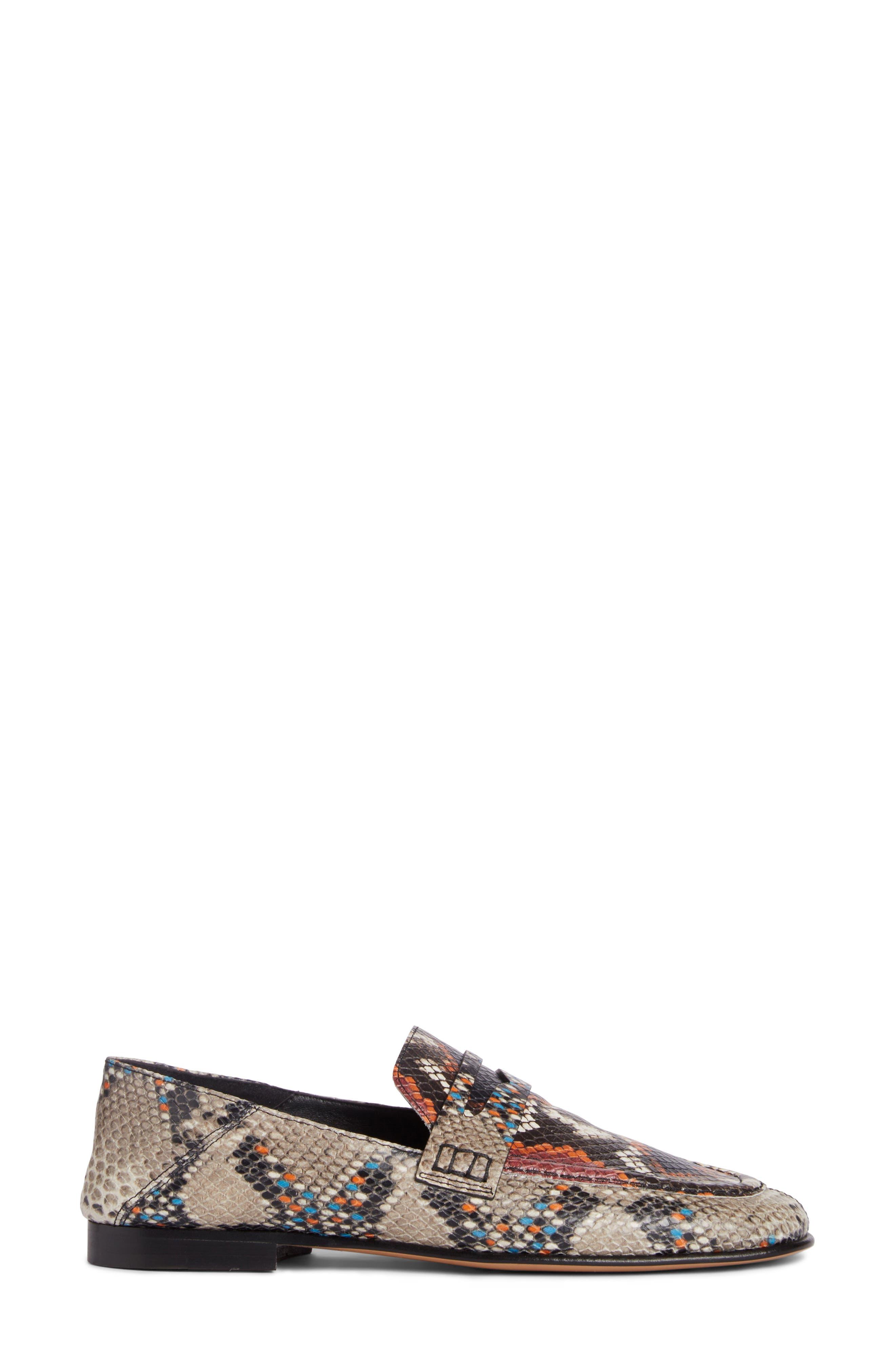 Fezzy Snakeskin Embossed Convertible Loafer,                             Alternate thumbnail 5, color,