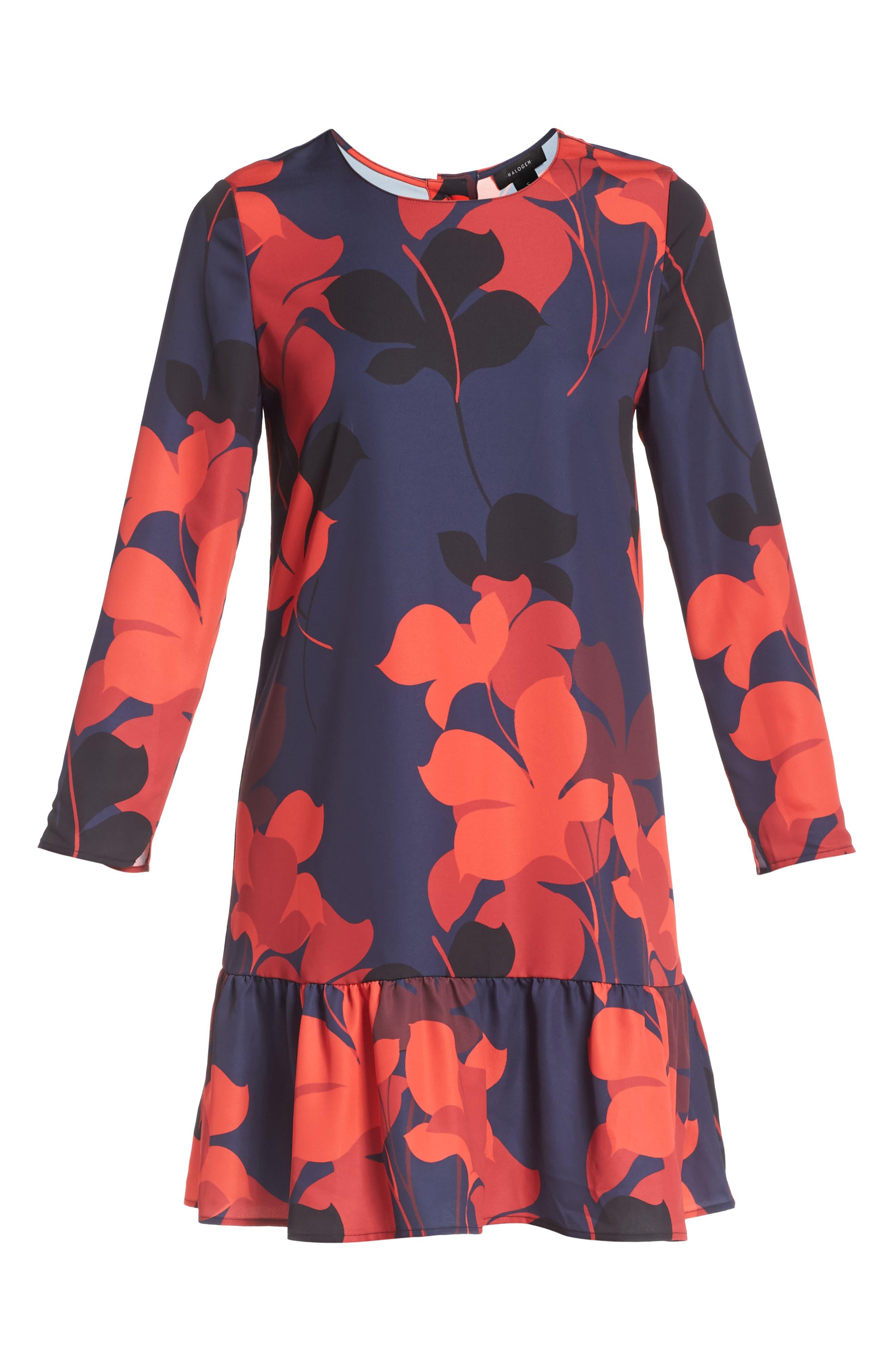 Button Back Ruffle Hem Dress,                             Alternate thumbnail 61, color,