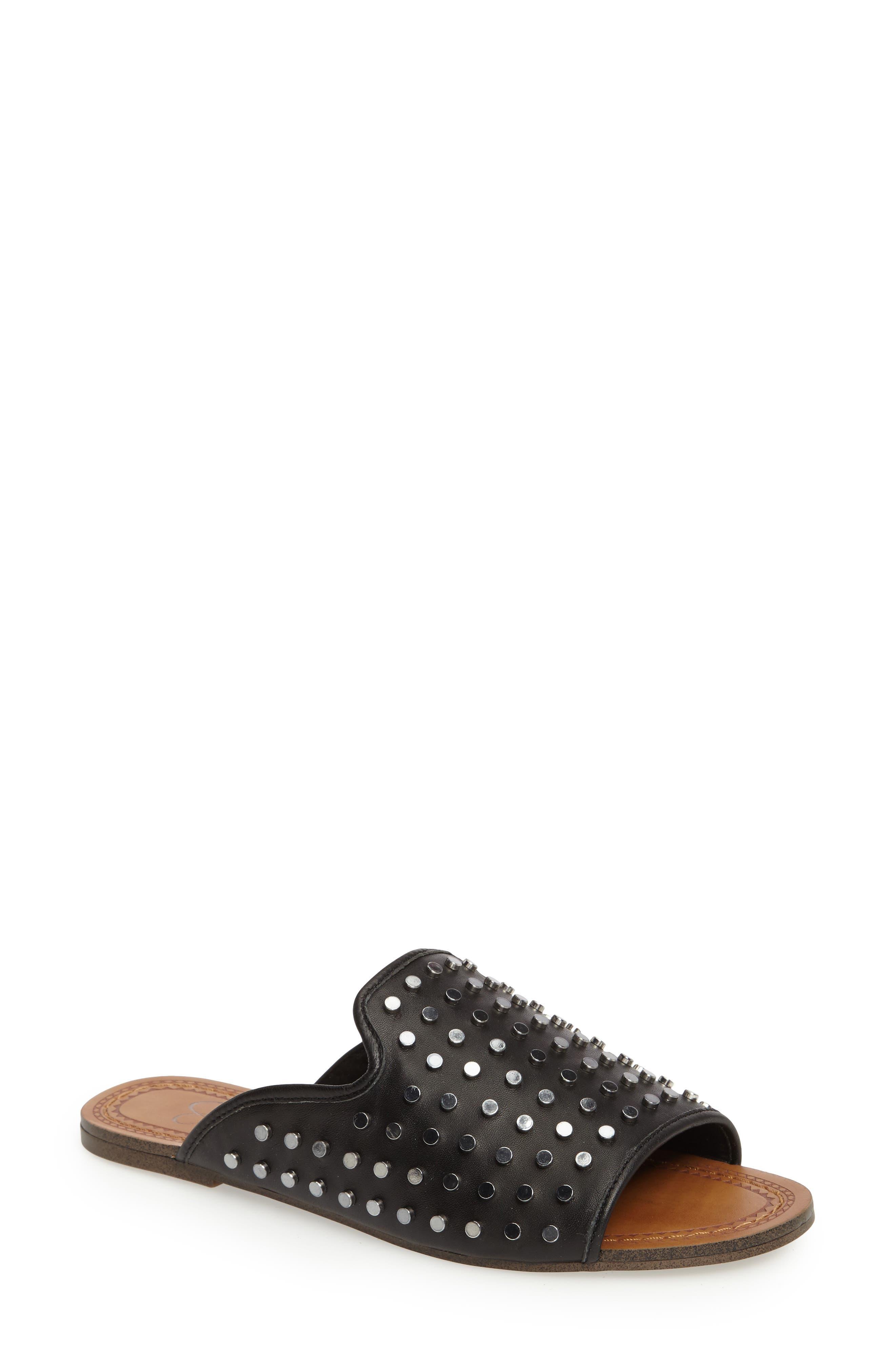 Kloe Studded Slide Sandal,                         Main,                         color, 001