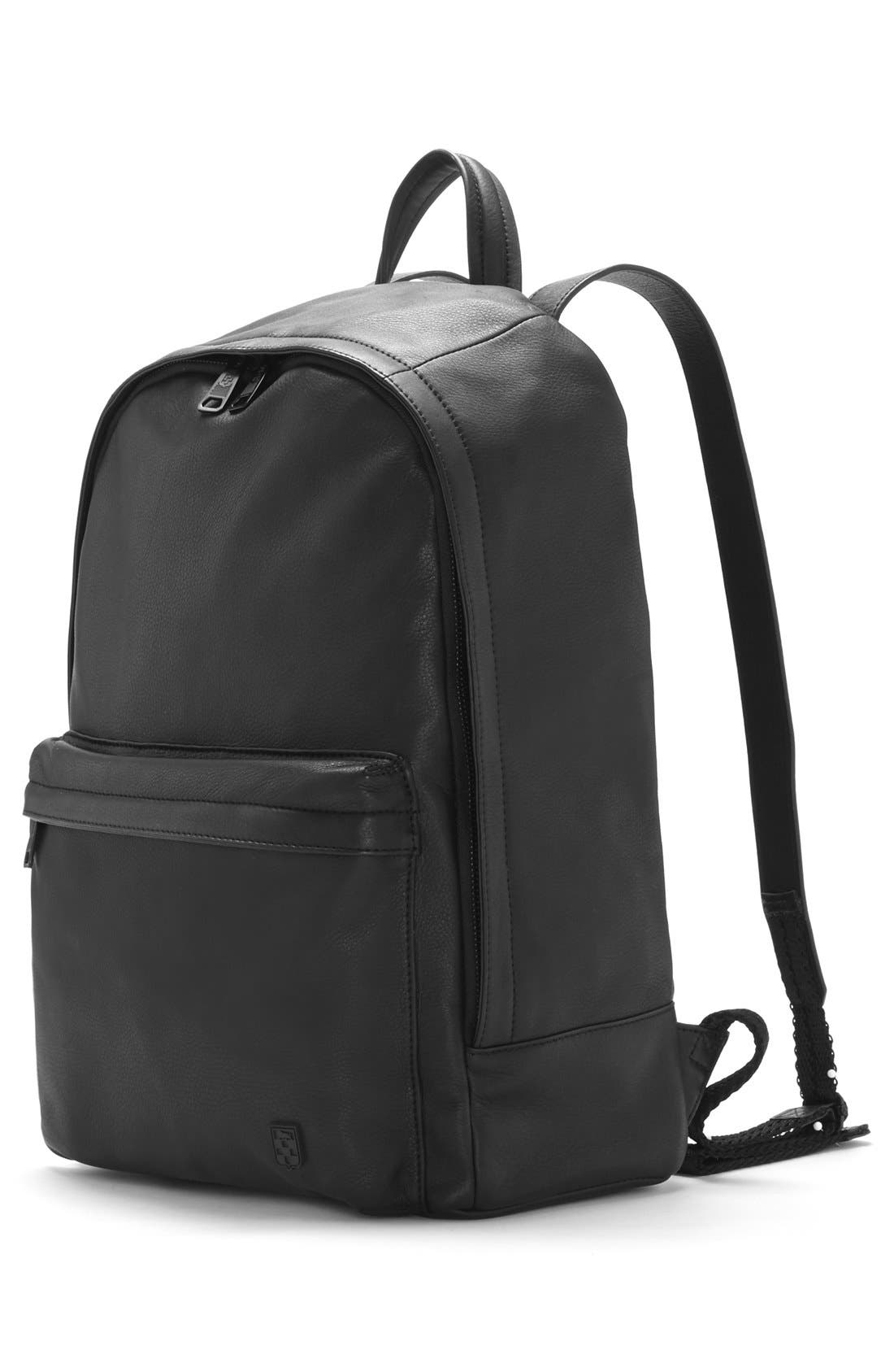 'Tolve' Leather Backpack,                             Alternate thumbnail 2, color,                             001