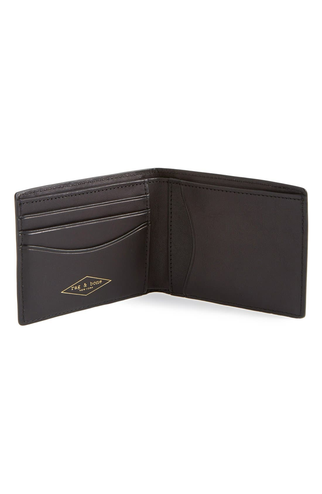 Hampshire Leather Bifold Wallet,                             Alternate thumbnail 2, color,                             002