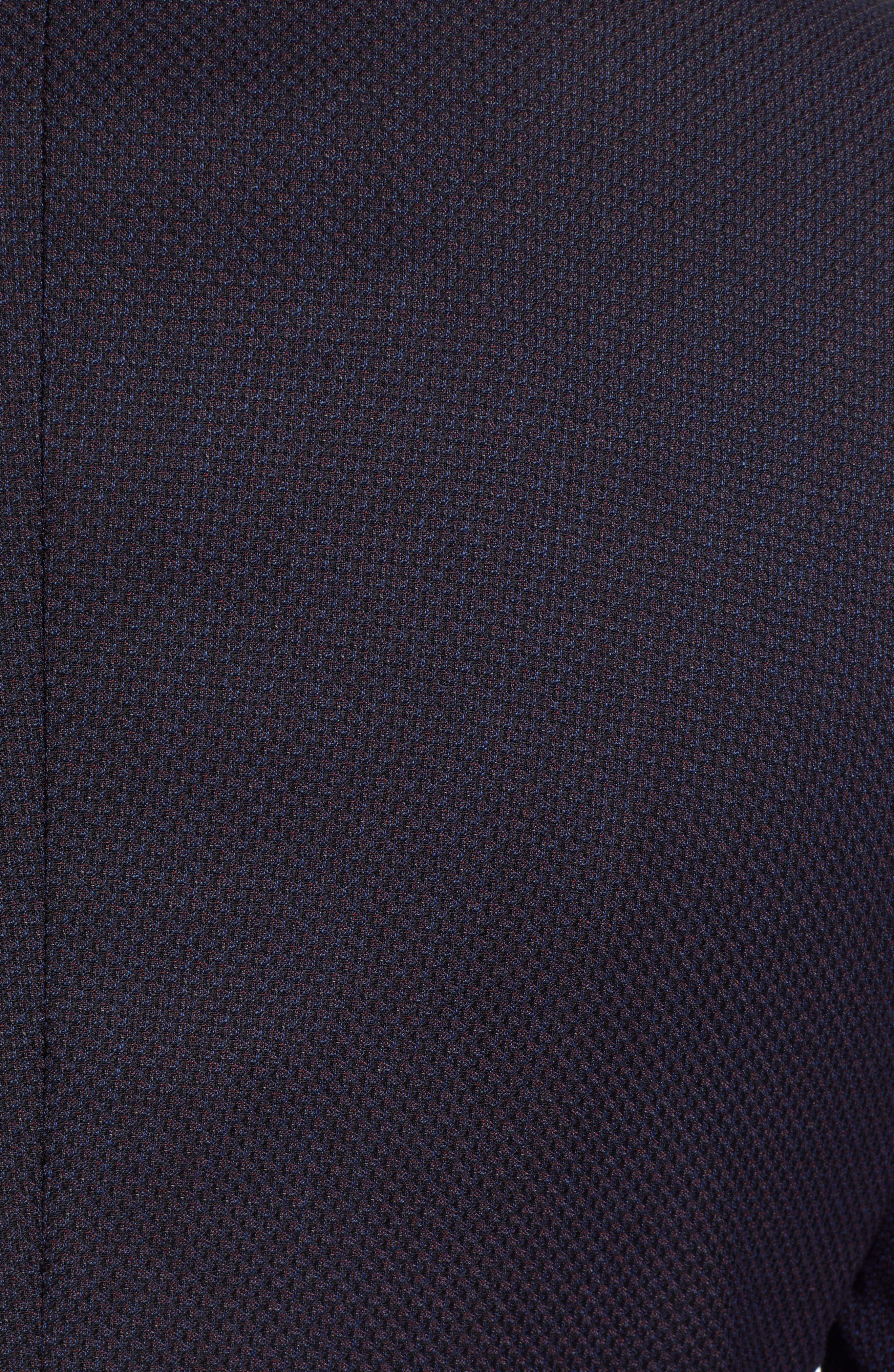 x Nordstrom Nobis Trim Fit Wool Blazer,                             Alternate thumbnail 6, color,                             NAVY