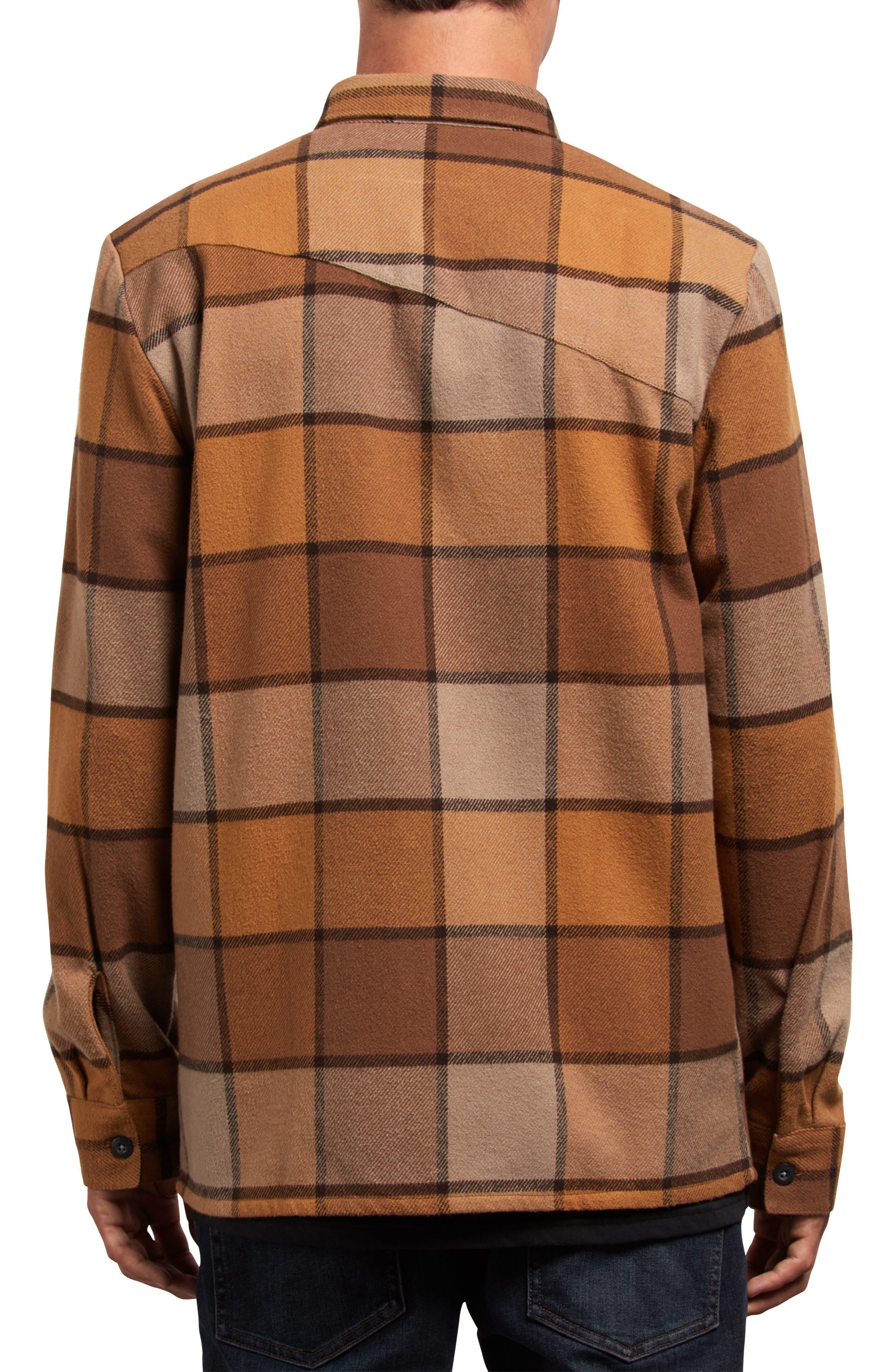 Randower Plaid Flannel Shirt,                             Alternate thumbnail 2, color,                             MUD