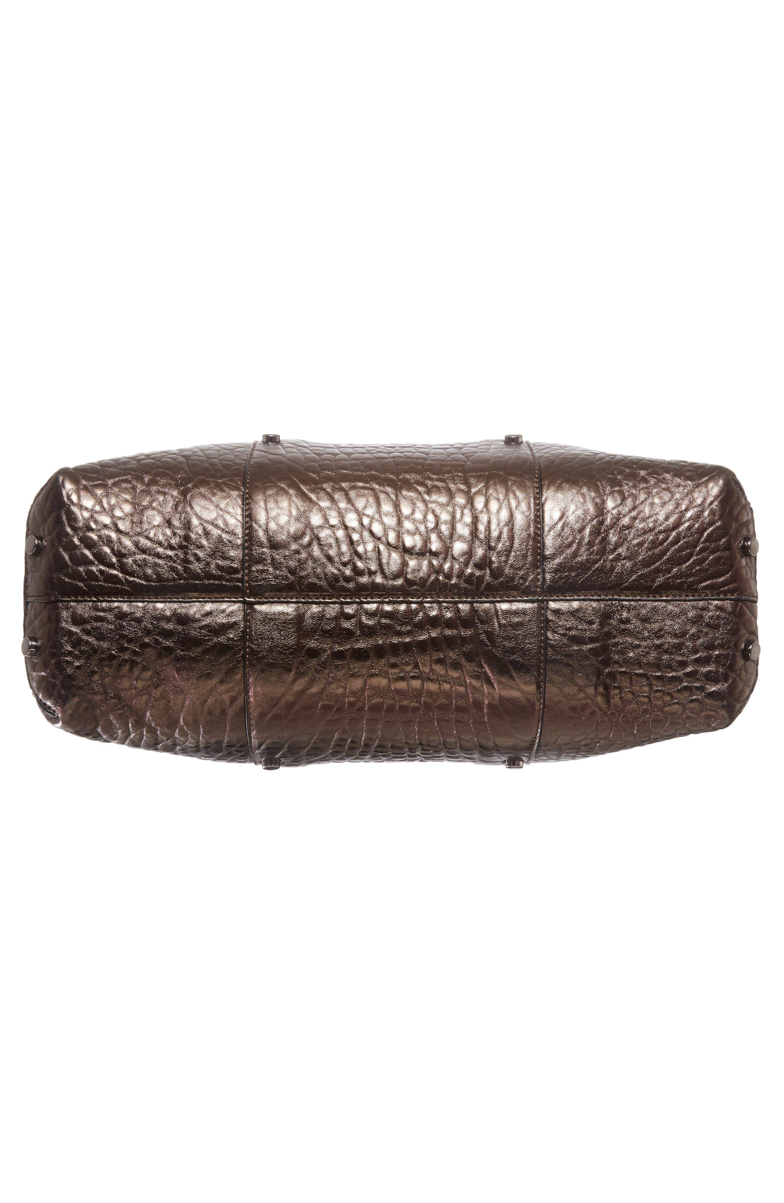 Lockett Metallic Leather Shopper,                             Alternate thumbnail 6, color,                             200
