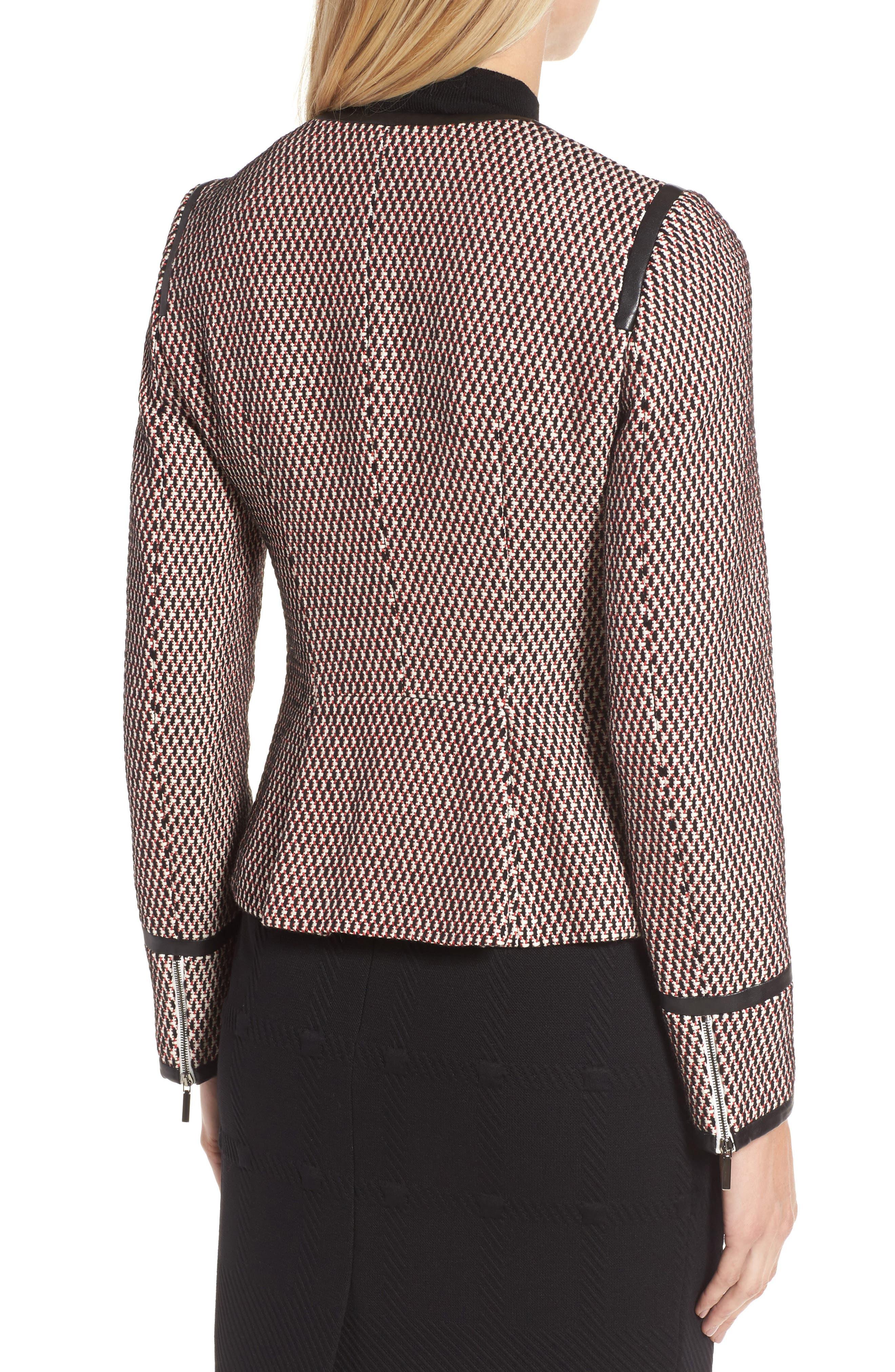 Keili Collarless Tweed Jacket,                             Alternate thumbnail 2, color,                             903