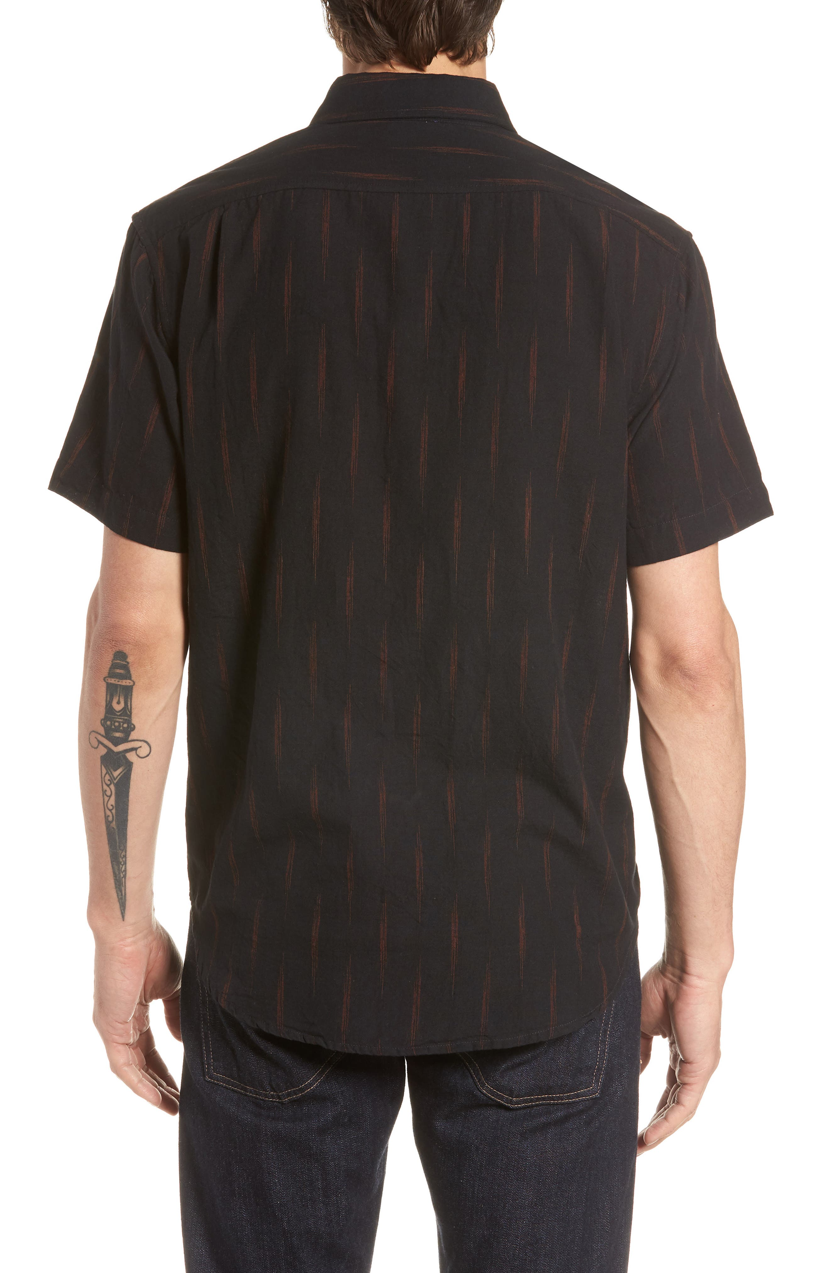 Limited Edition Slim Fit Short Sleeve Sport Shirt,                             Alternate thumbnail 3, color,