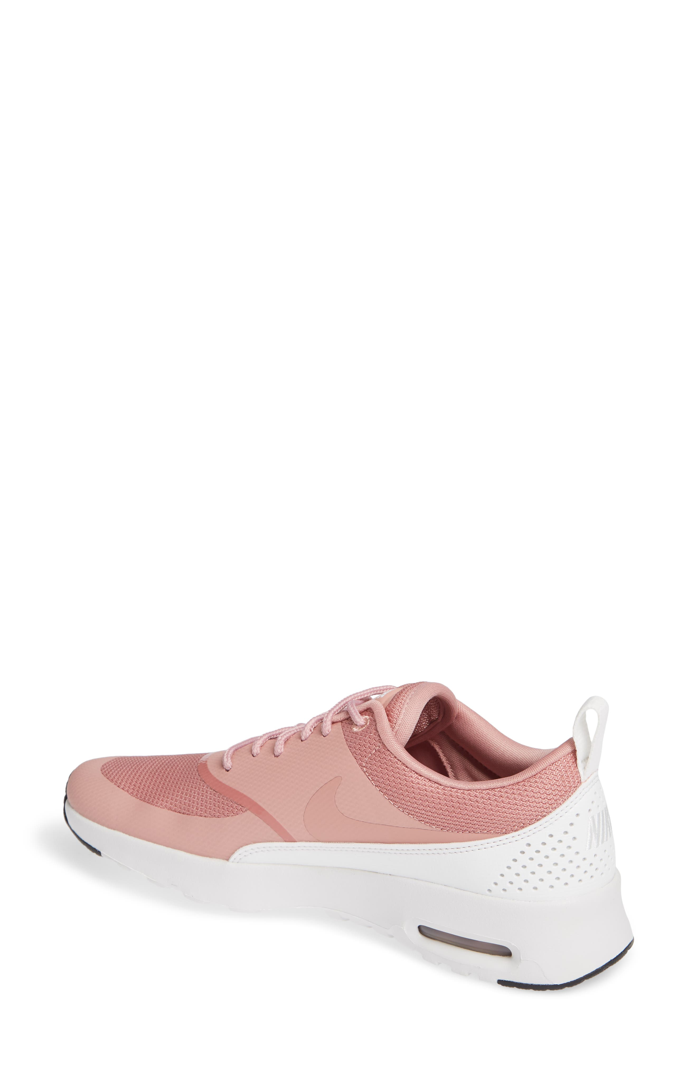 Air Max Thea Sneaker,                             Alternate thumbnail 2, color,                             RUST PINK/ WHITE/ BLACK