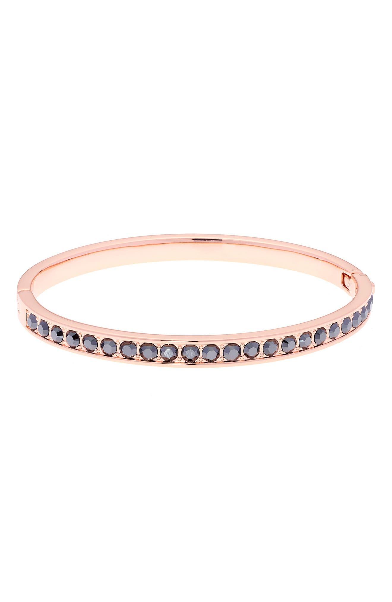 Clemara Hinge Bangle Bracelet,                             Main thumbnail 1, color,                             001