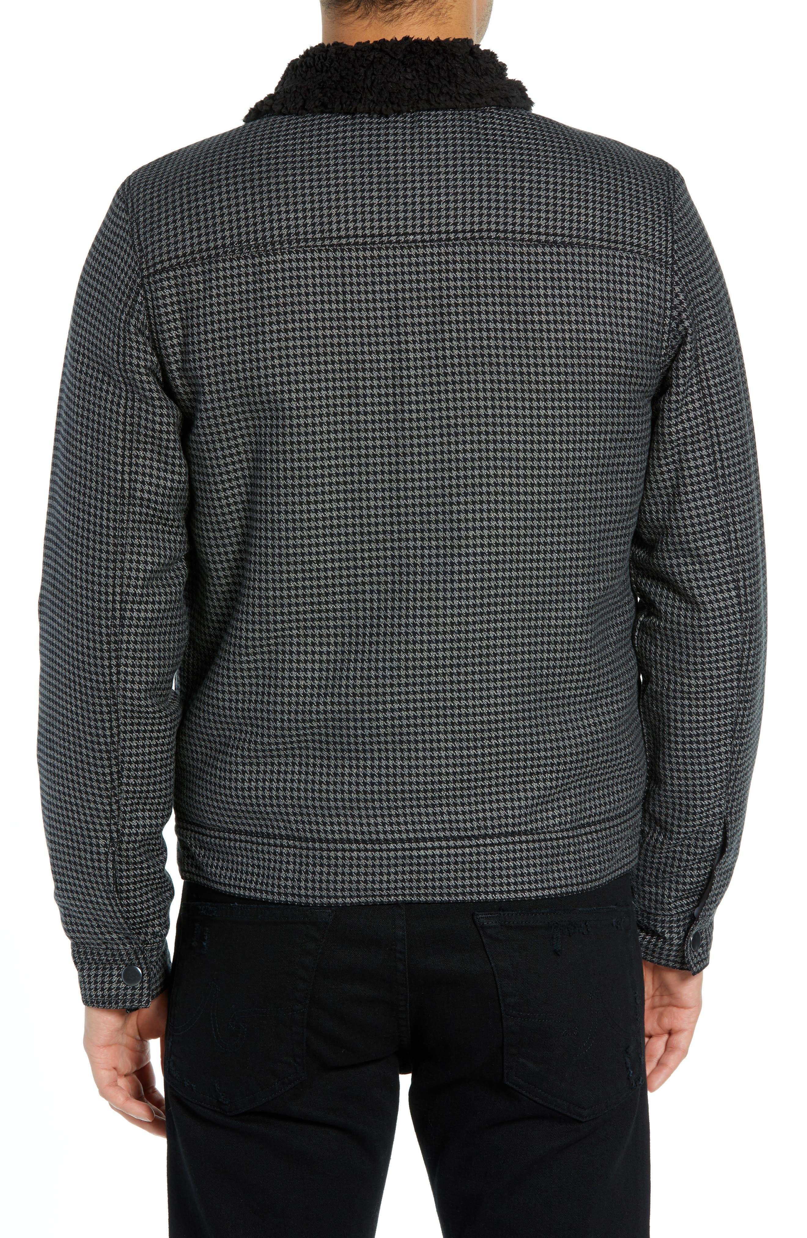 THE RAIL,                             Lined Houndstooth Trucker Jacket,                             Alternate thumbnail 2, color,                             001