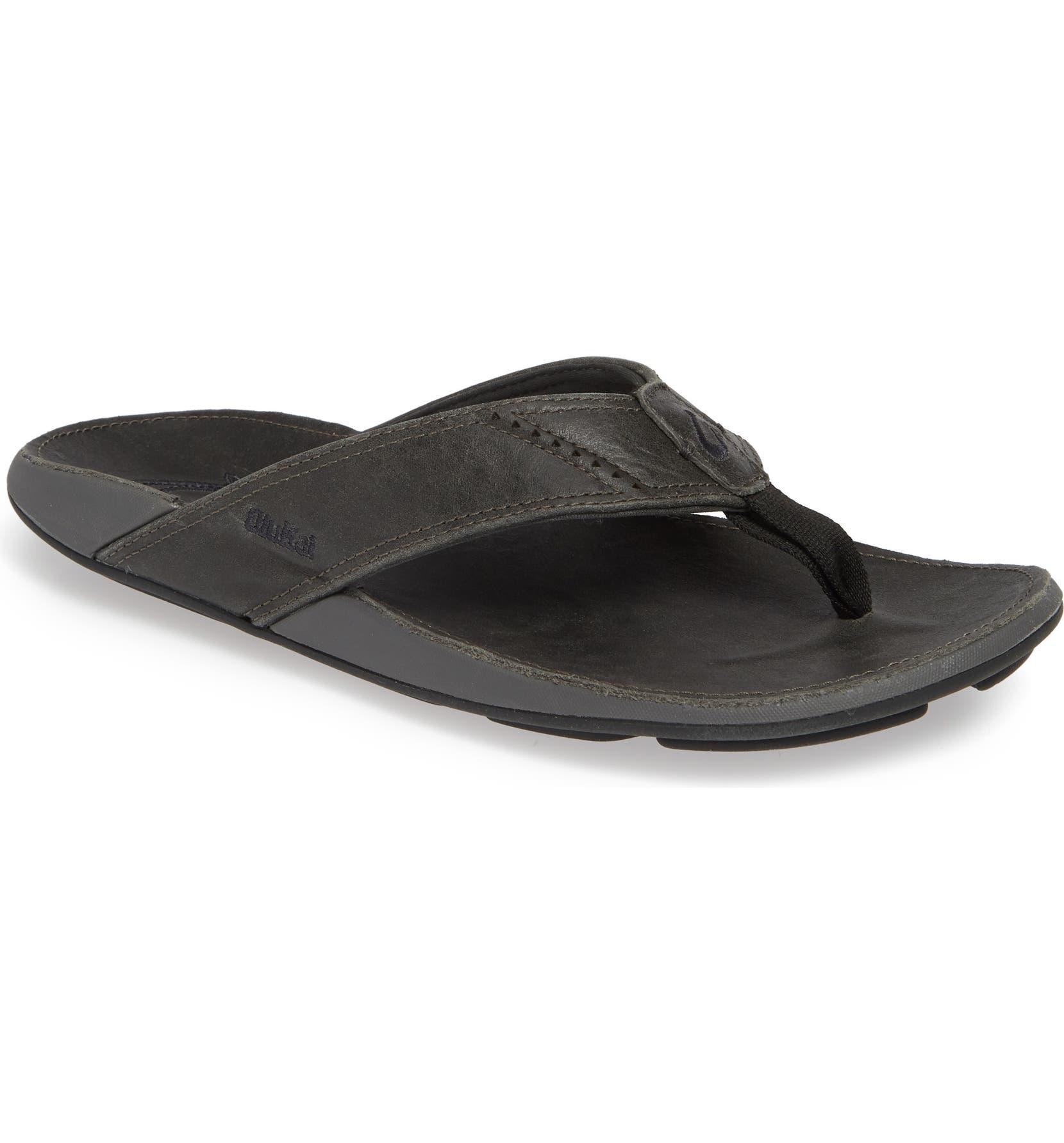 840787ced0a OluKai  Nui  Leather Flip Flop (Men)